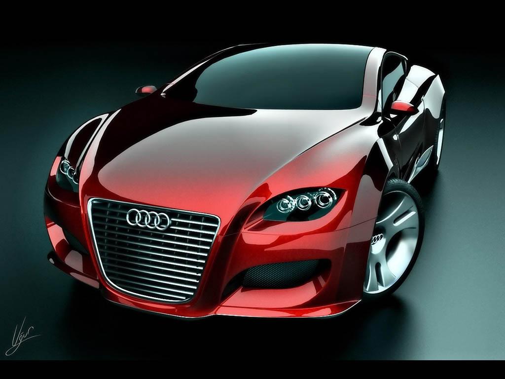 Audi sport car, красная машина, спорт авто