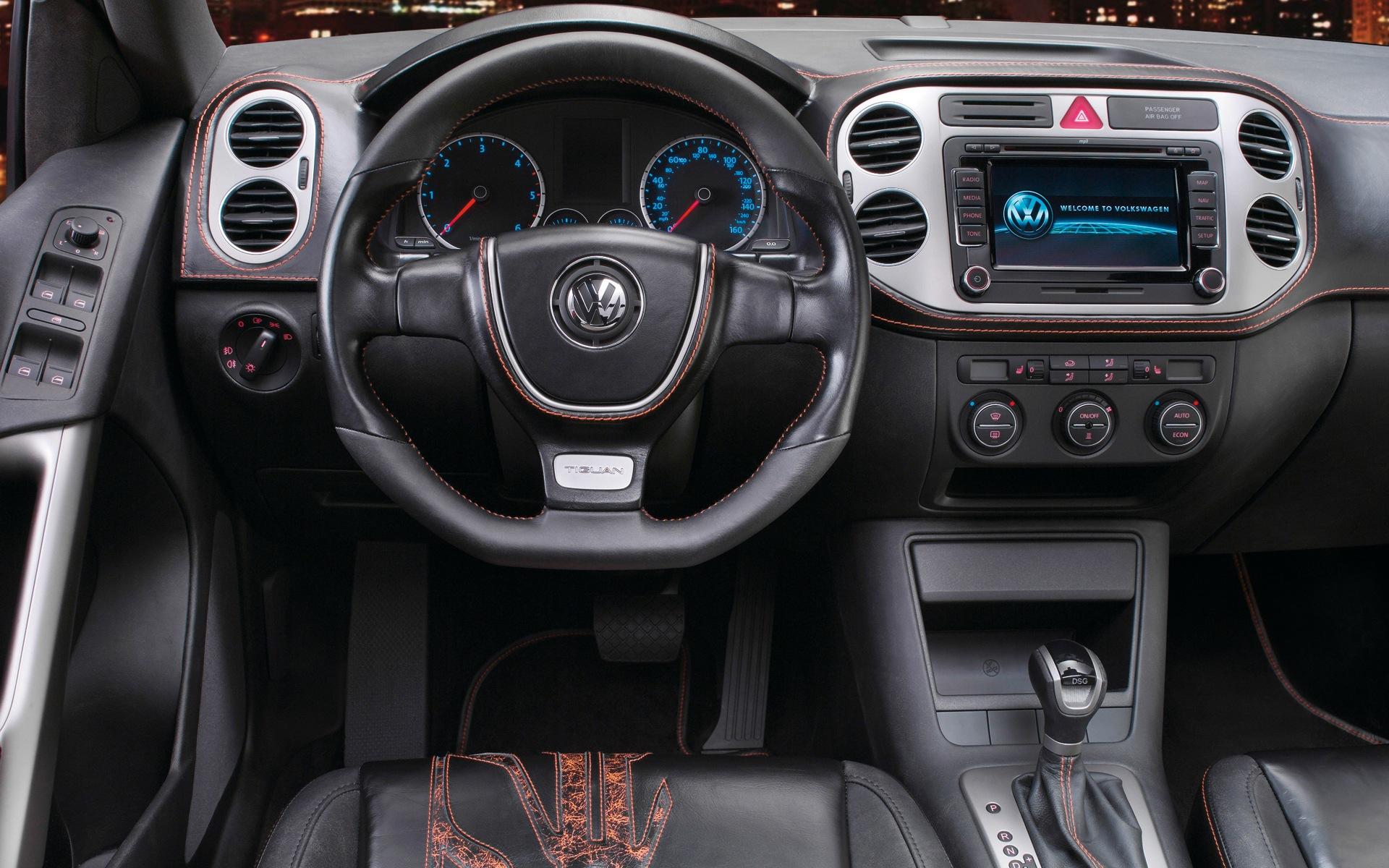 Volkswagen Leather салон машины, скачать фото, бесплатно