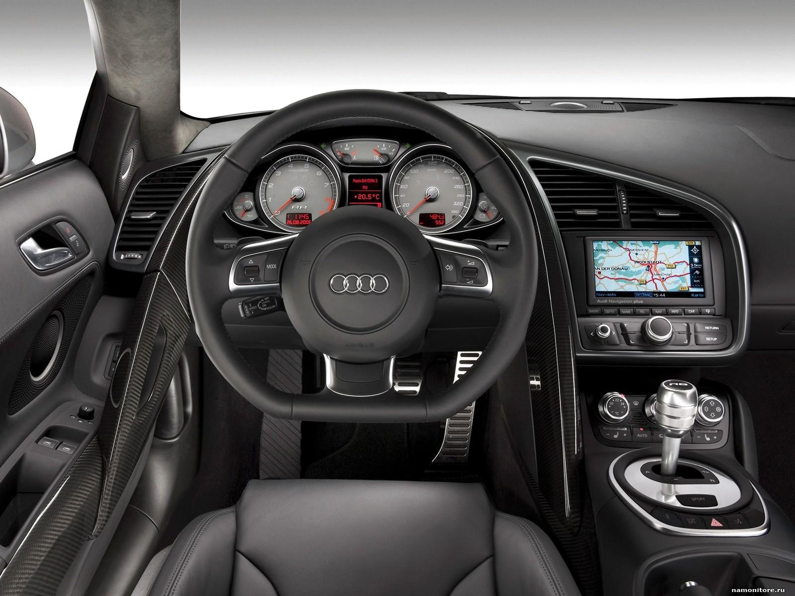 Черный салон Audi, фото в высоком разрешении, скачать
