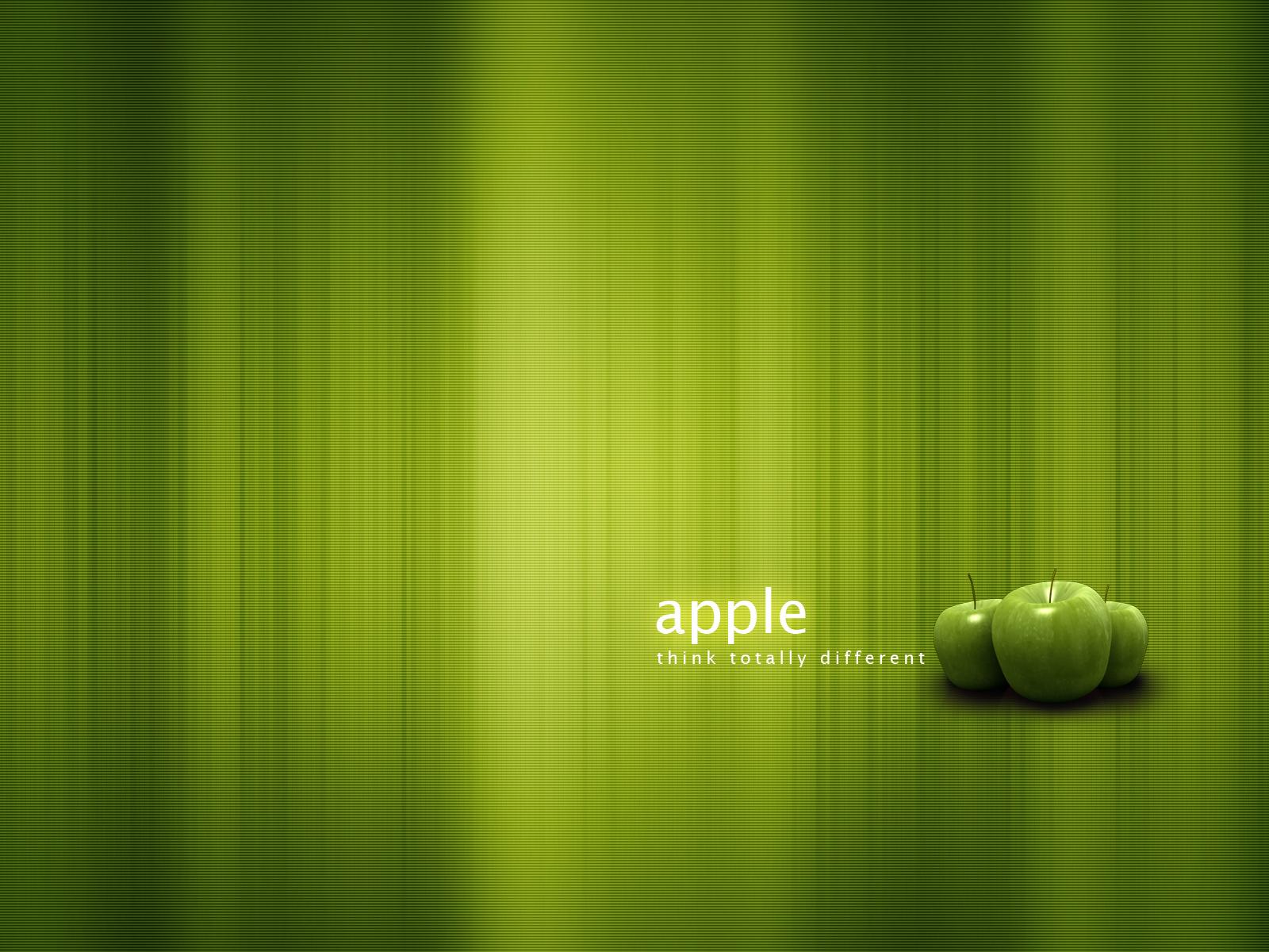 Яблоки, зеленые обои для рабочего стола