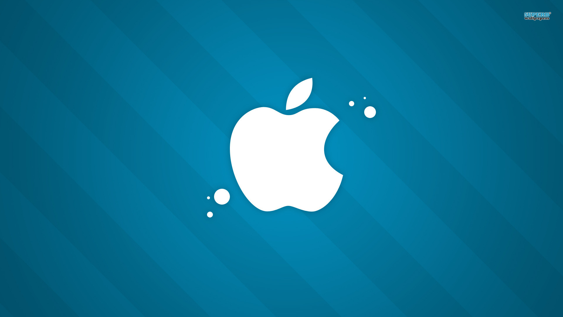 apple, blue, обои для рабочего стола