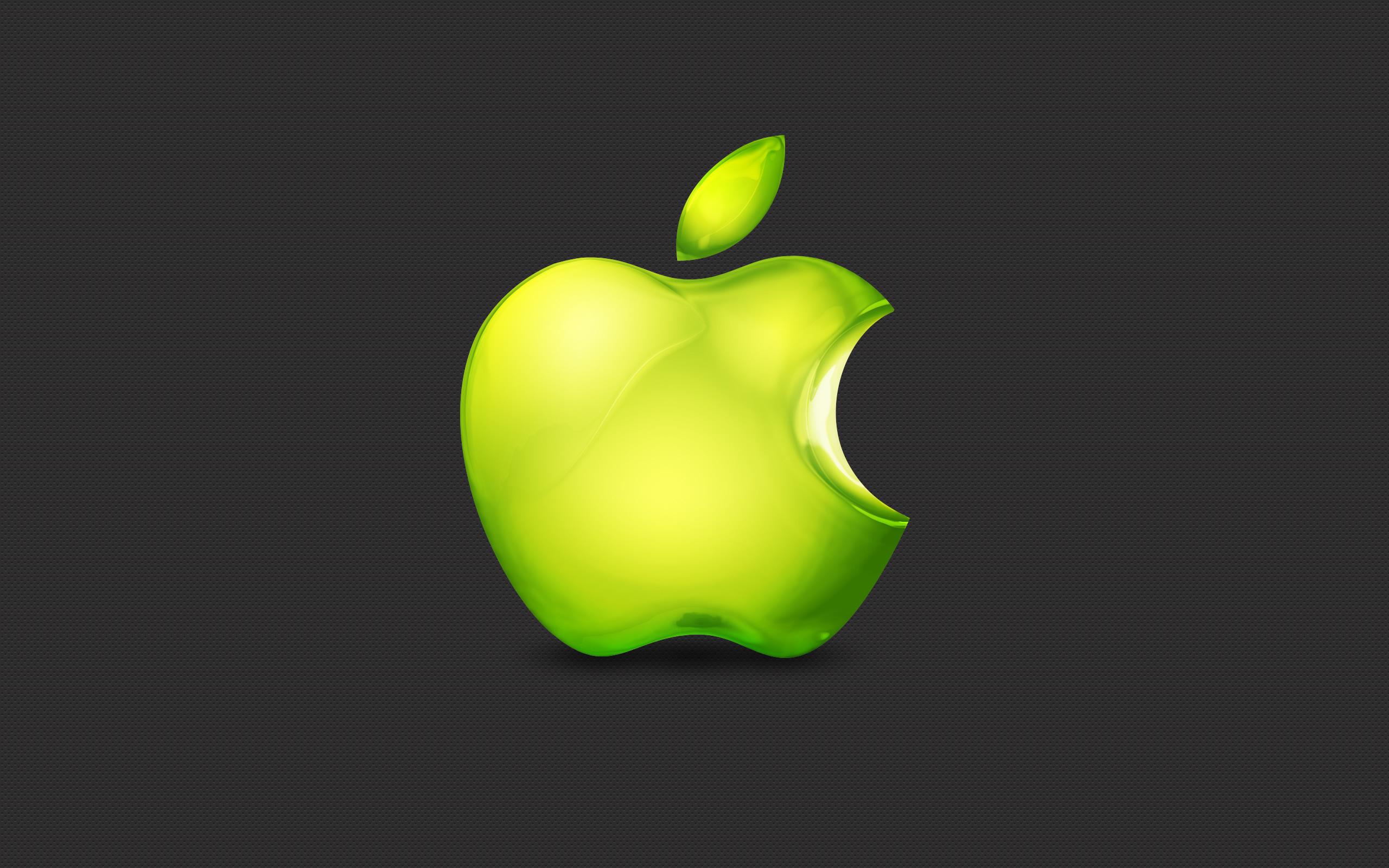 apple, зеленое яблоко на темном фоне