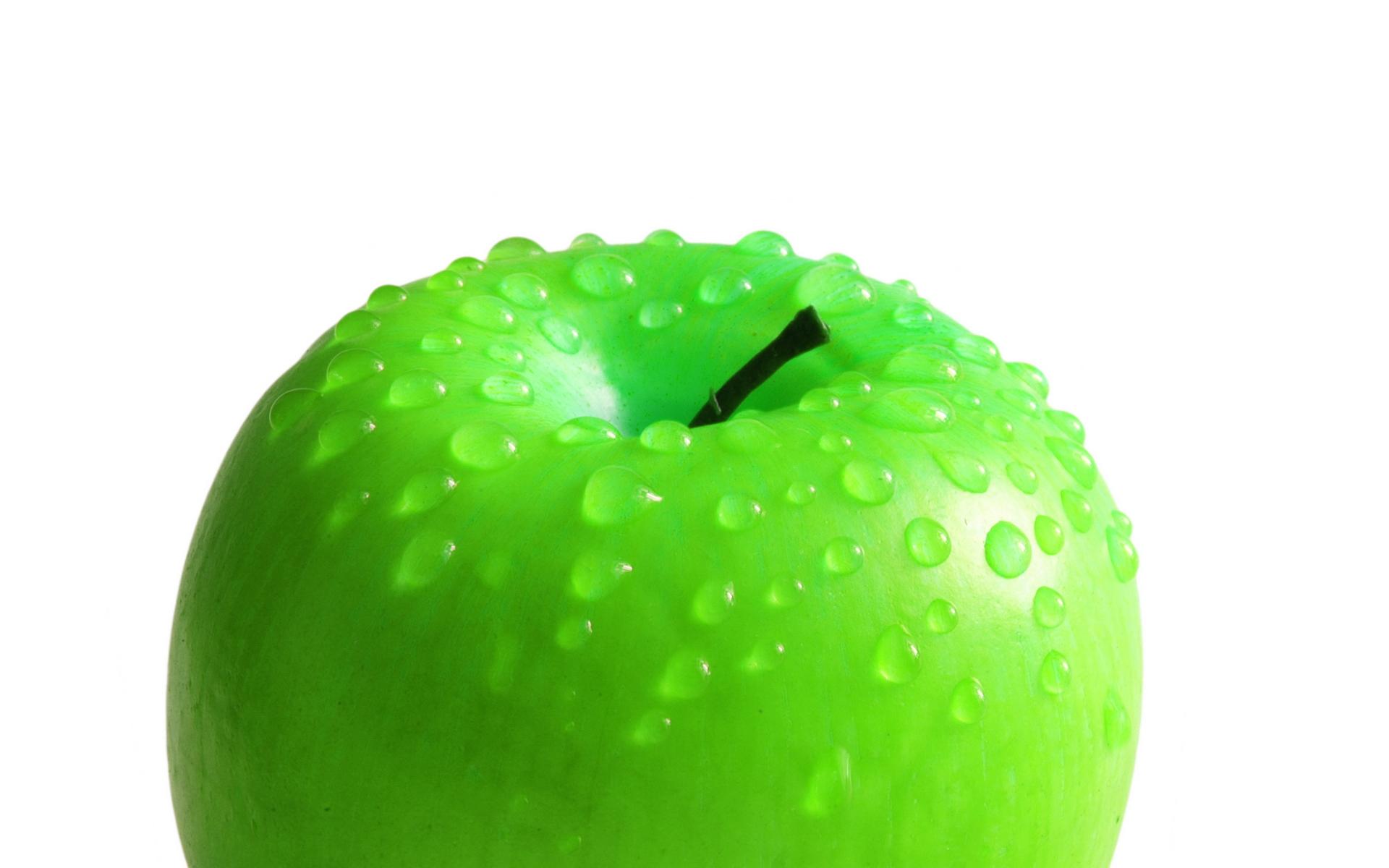 Зеленое яблоко, фото, на рабочий стол