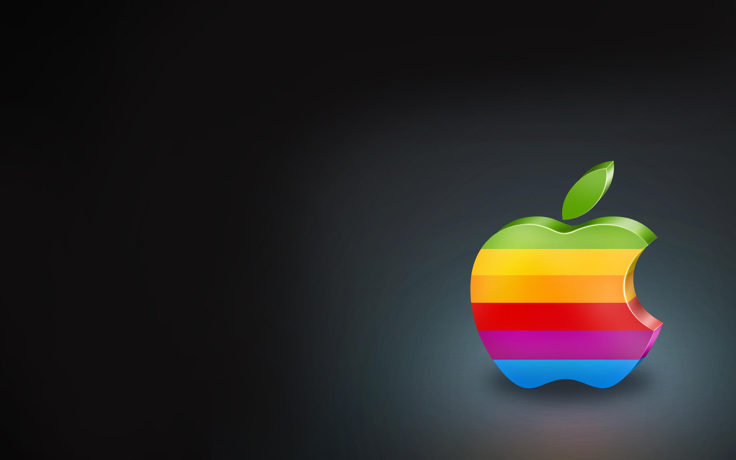 обои радуга, яблоко, apple