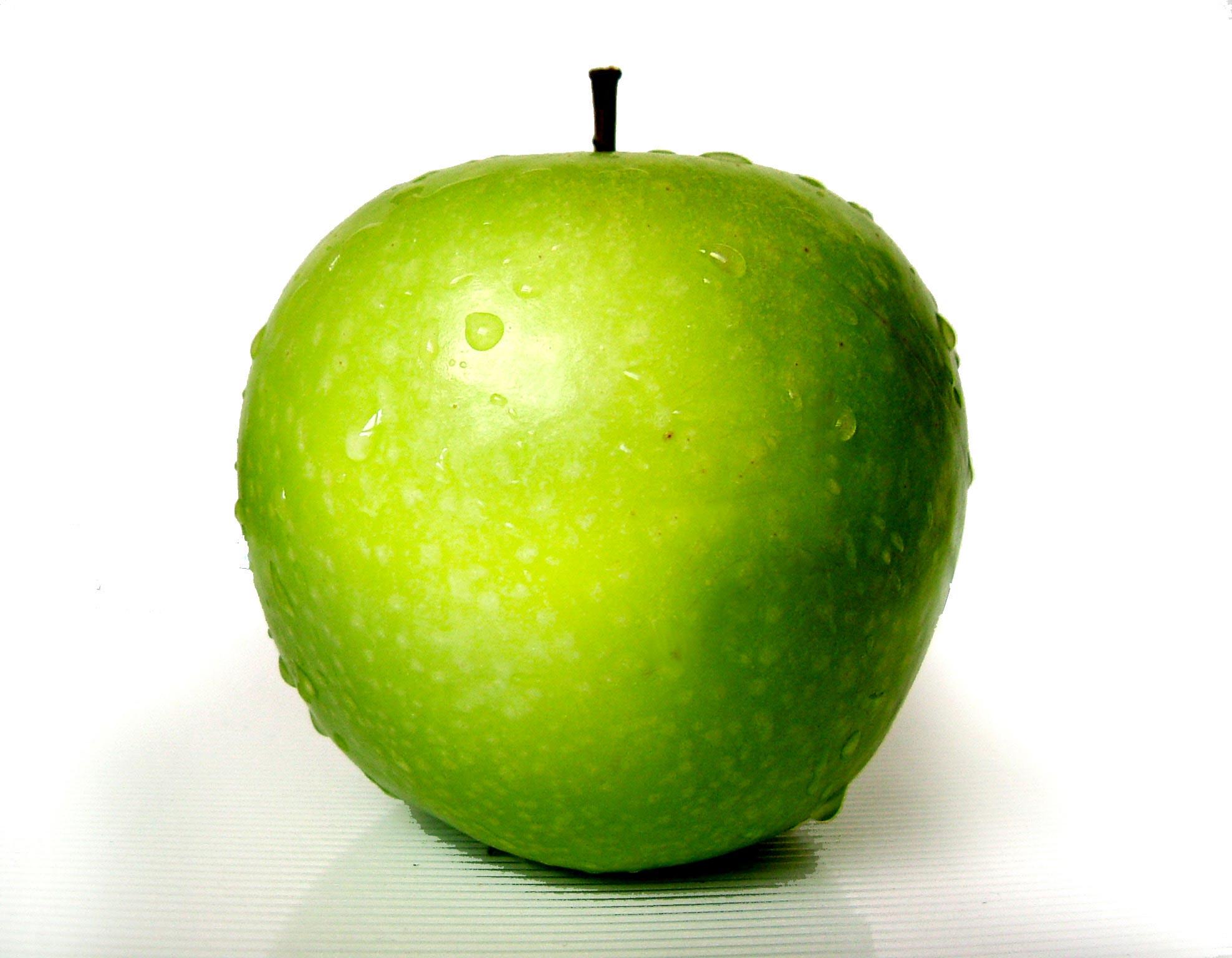 Зеленое яблоко, обои для рабочего стола