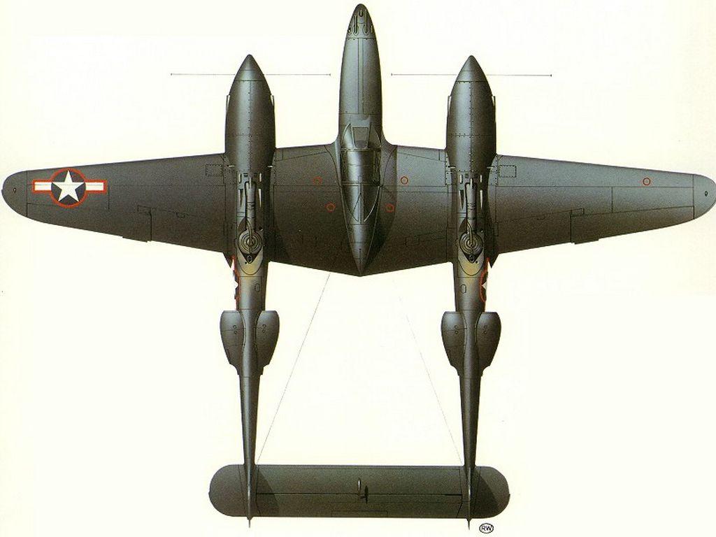 самолет, винтовой, военный, разведчик, рама