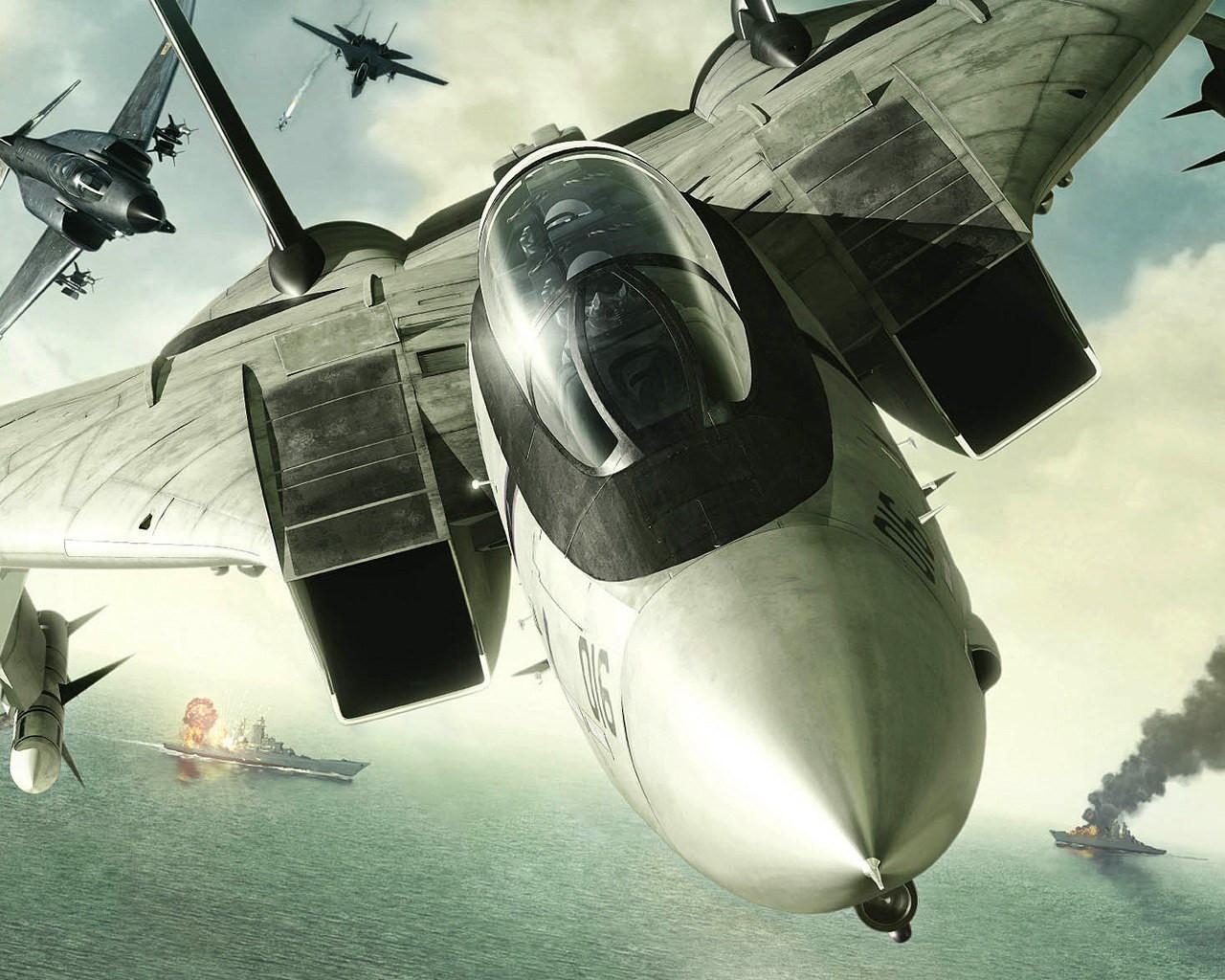 истребитель, фото обои на рабочий стол, реактивный самолет