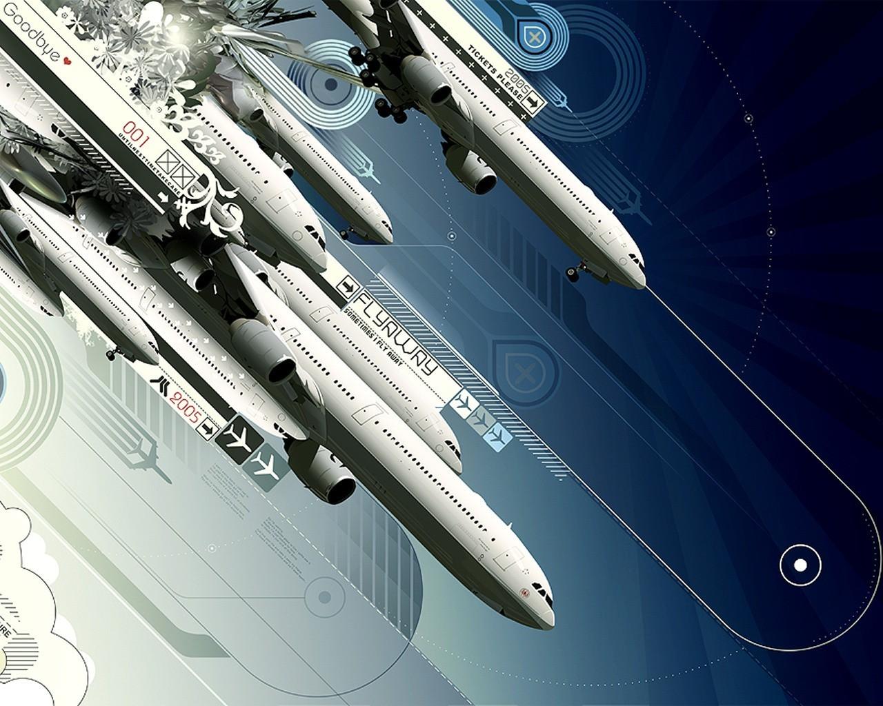 Коллаж, самолет, истребитель, обои для рабочего стола