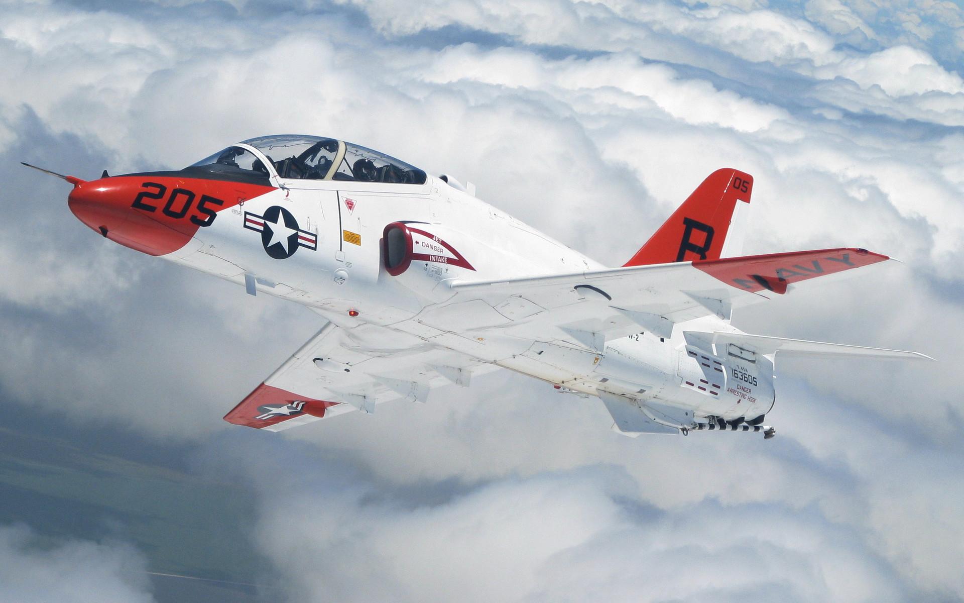 Самолет, истребитель, облака, обои на рабочий стол