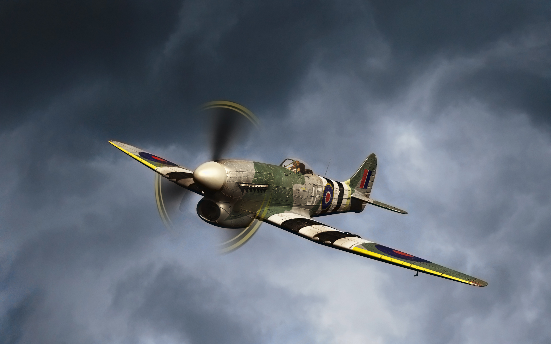 Самолет винтовой, истребитель