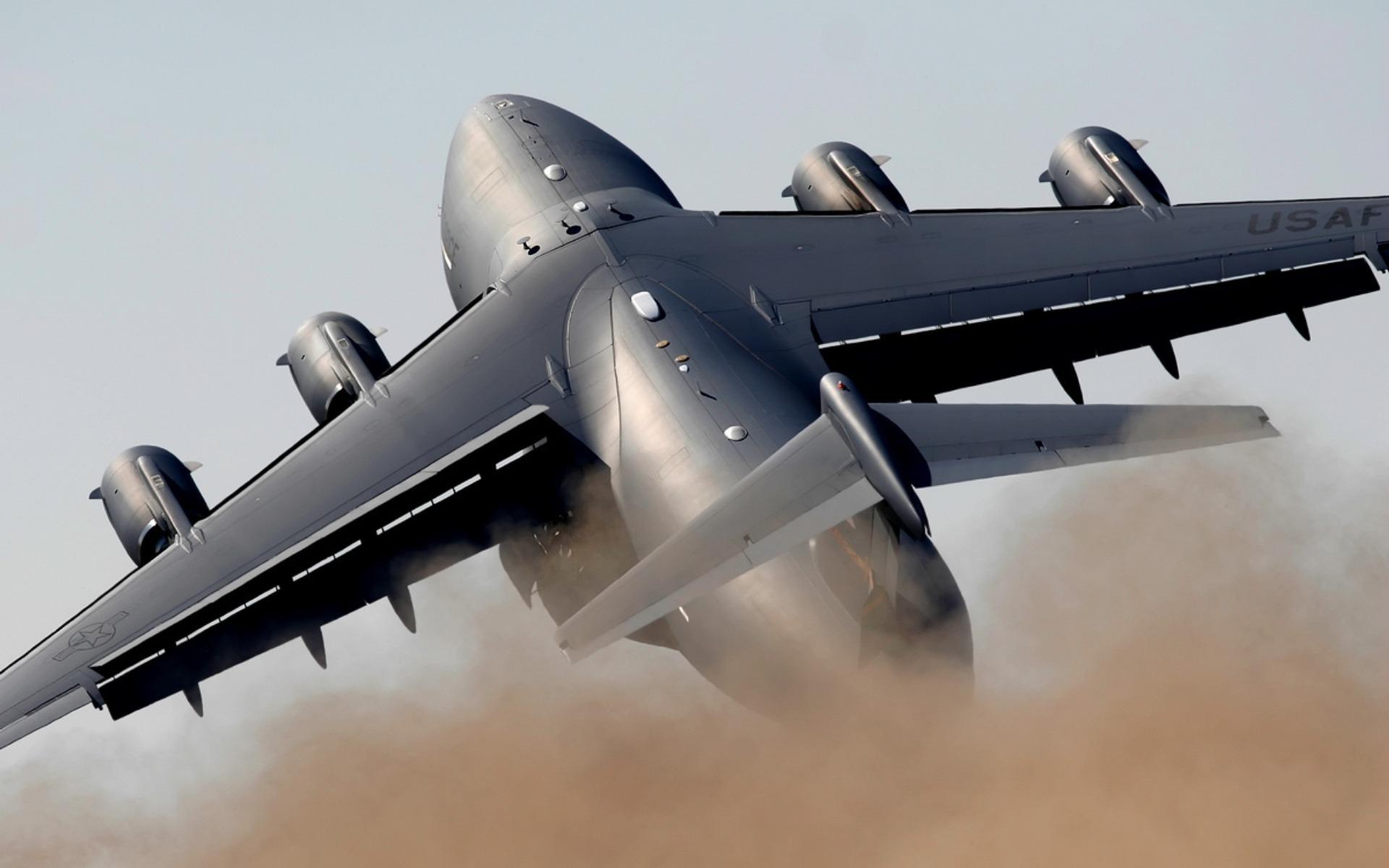 Самолет, большой, транспортный, обои на рабочий стол