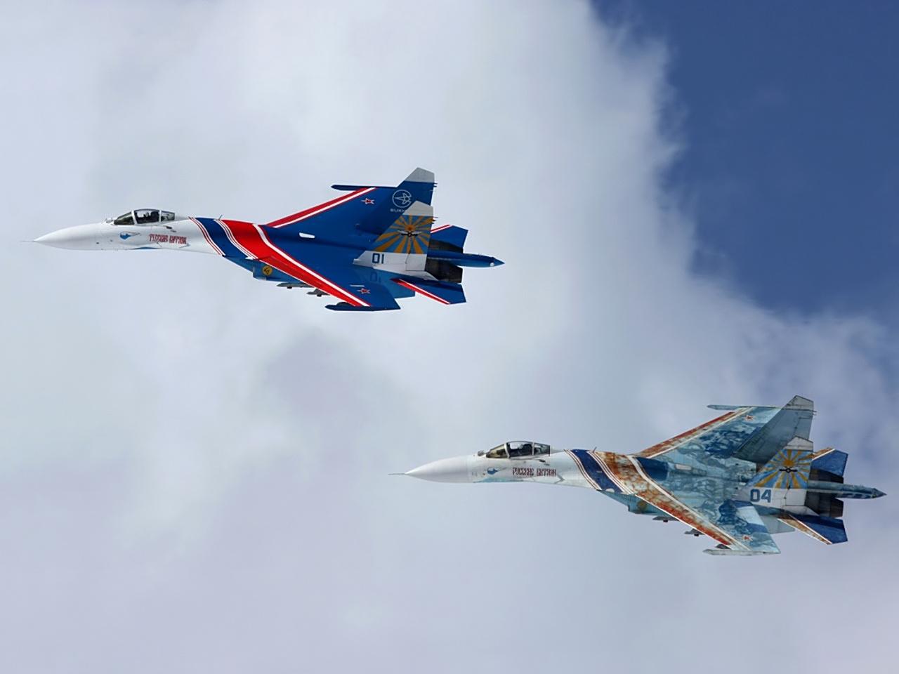 Самолеты, истребители, в небе, обои