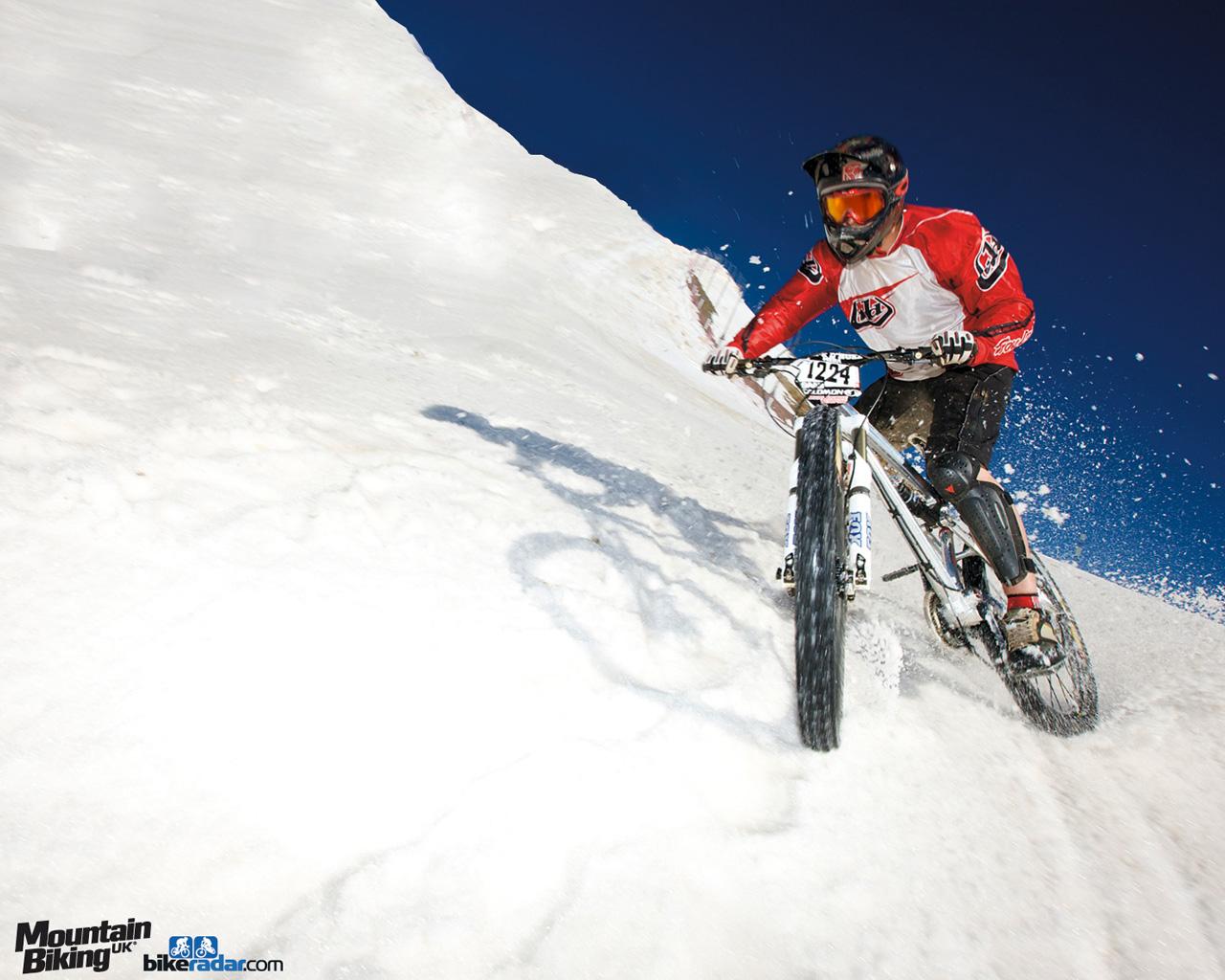 Обои вело, байк, снег, велосипед