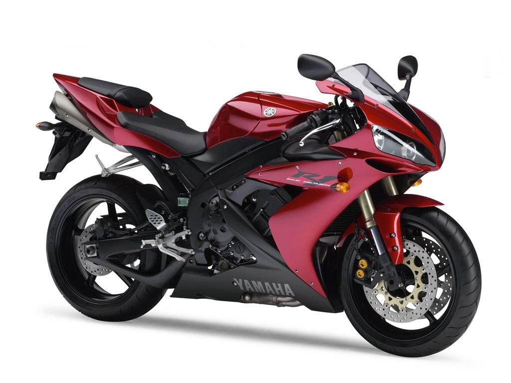 мотобайк, фото красный, мотоцикл