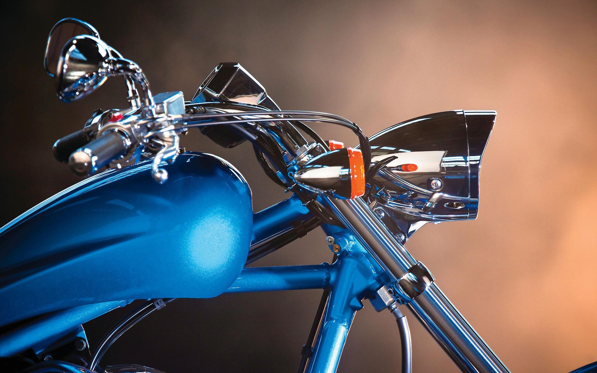 Обои для рабочего стола, мотоцикл, Фонарь