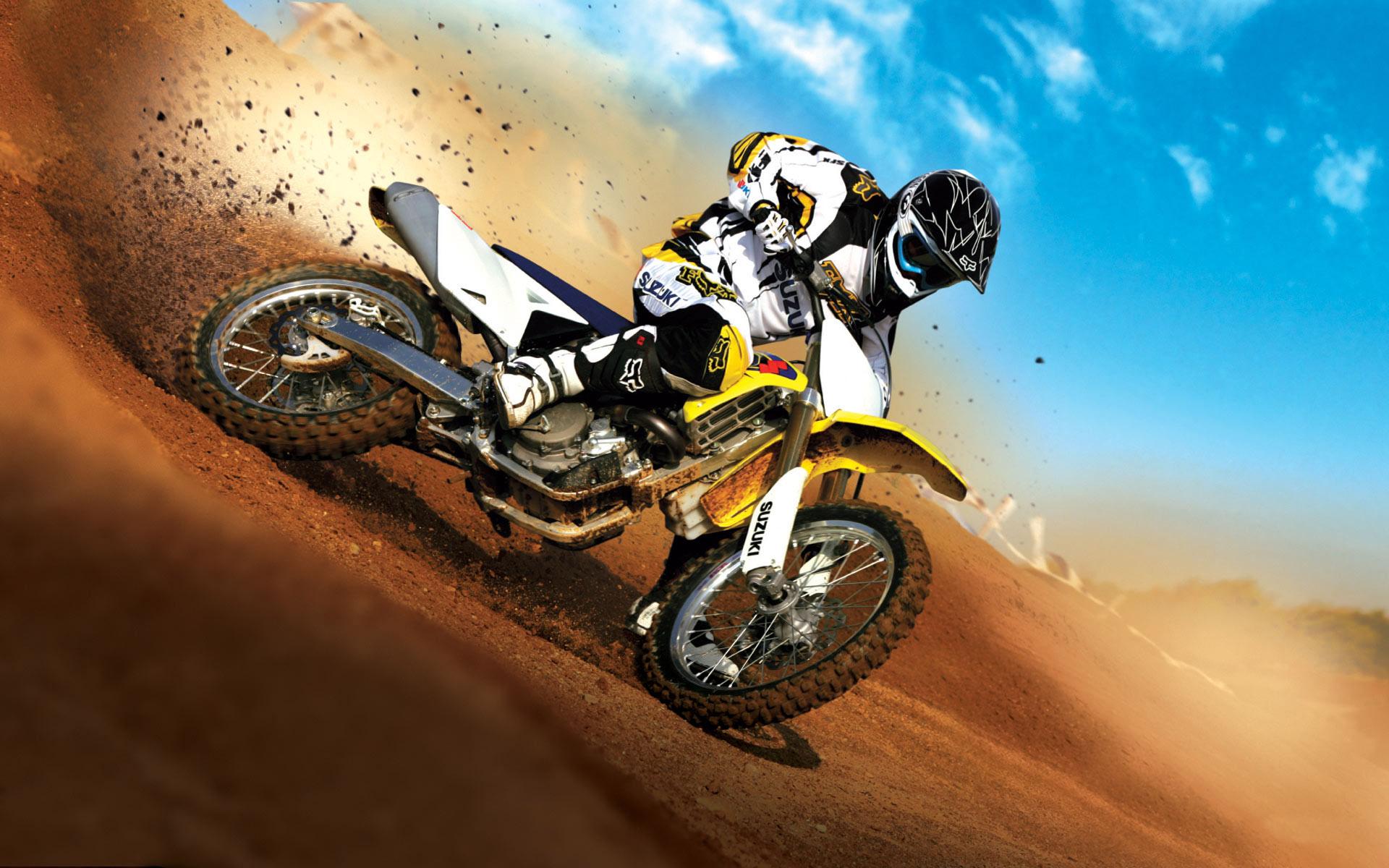 Мотокросс, скорость, песок, адреналин, байк