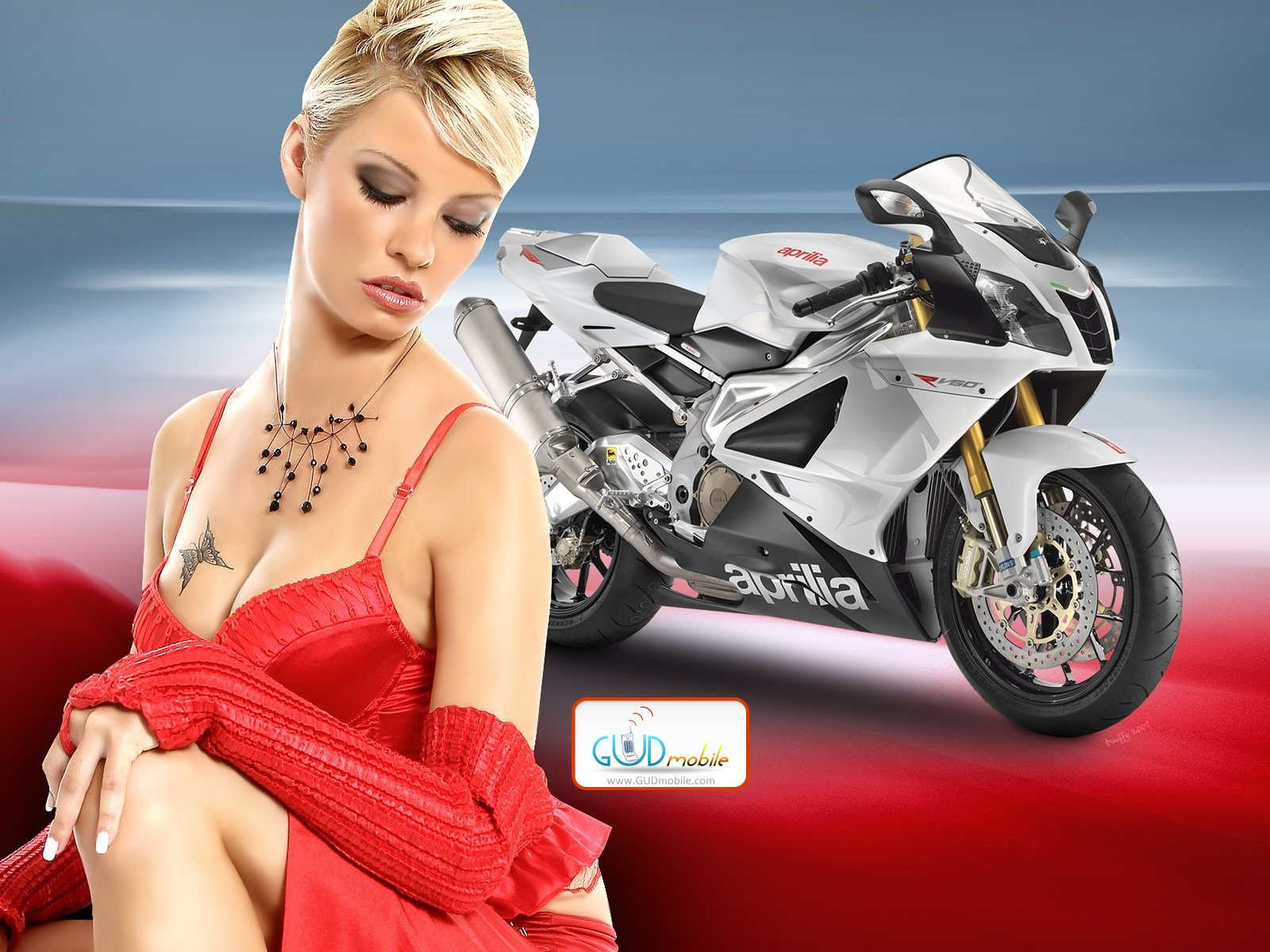 красивая девушка и мотоцикл, обои