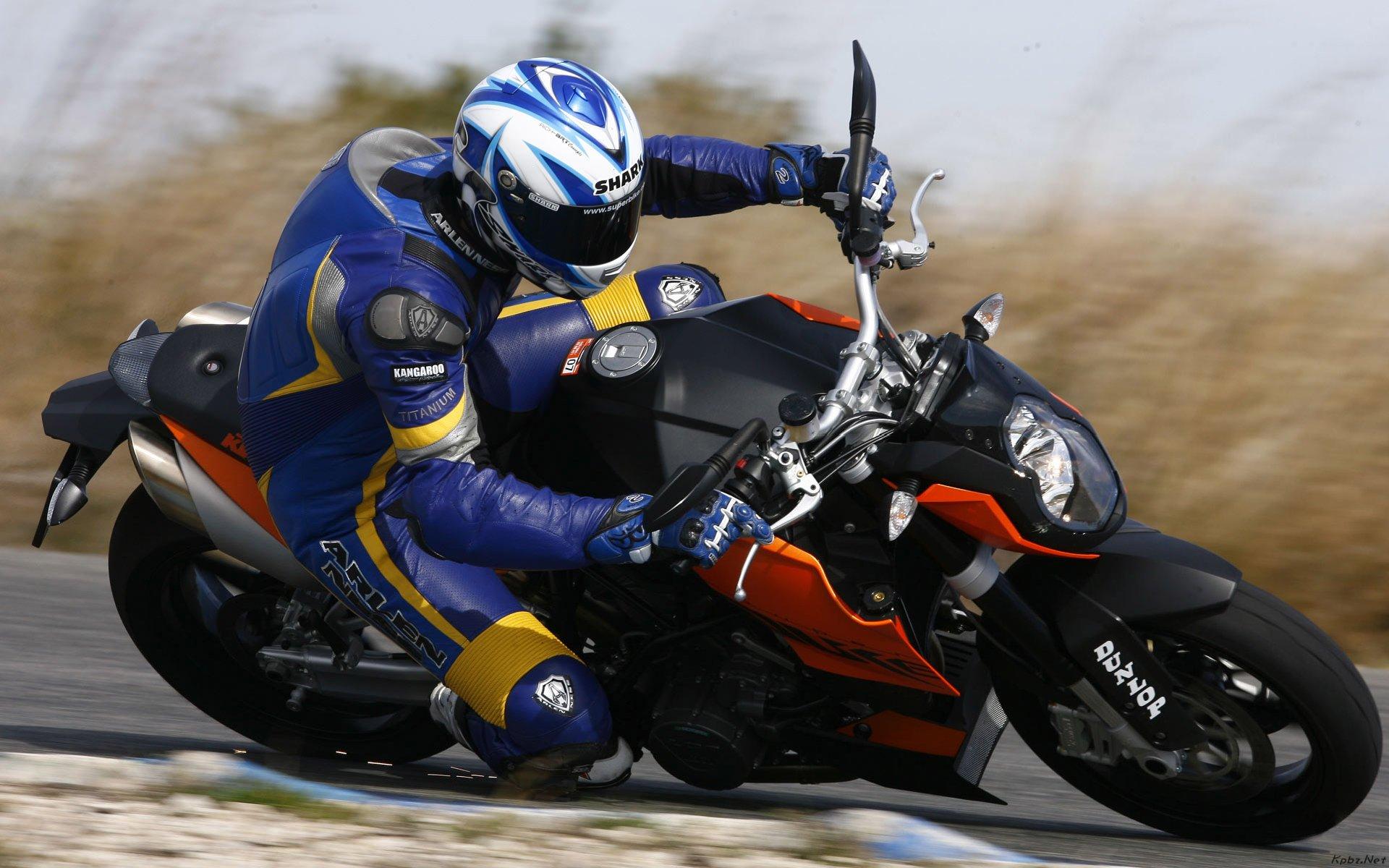 Мотобайк, трасса, гонщик, мотоцикл
