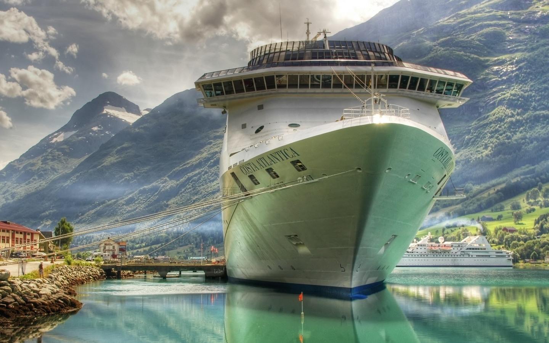 корабль плывет, фото, обои, лайнер, скачать