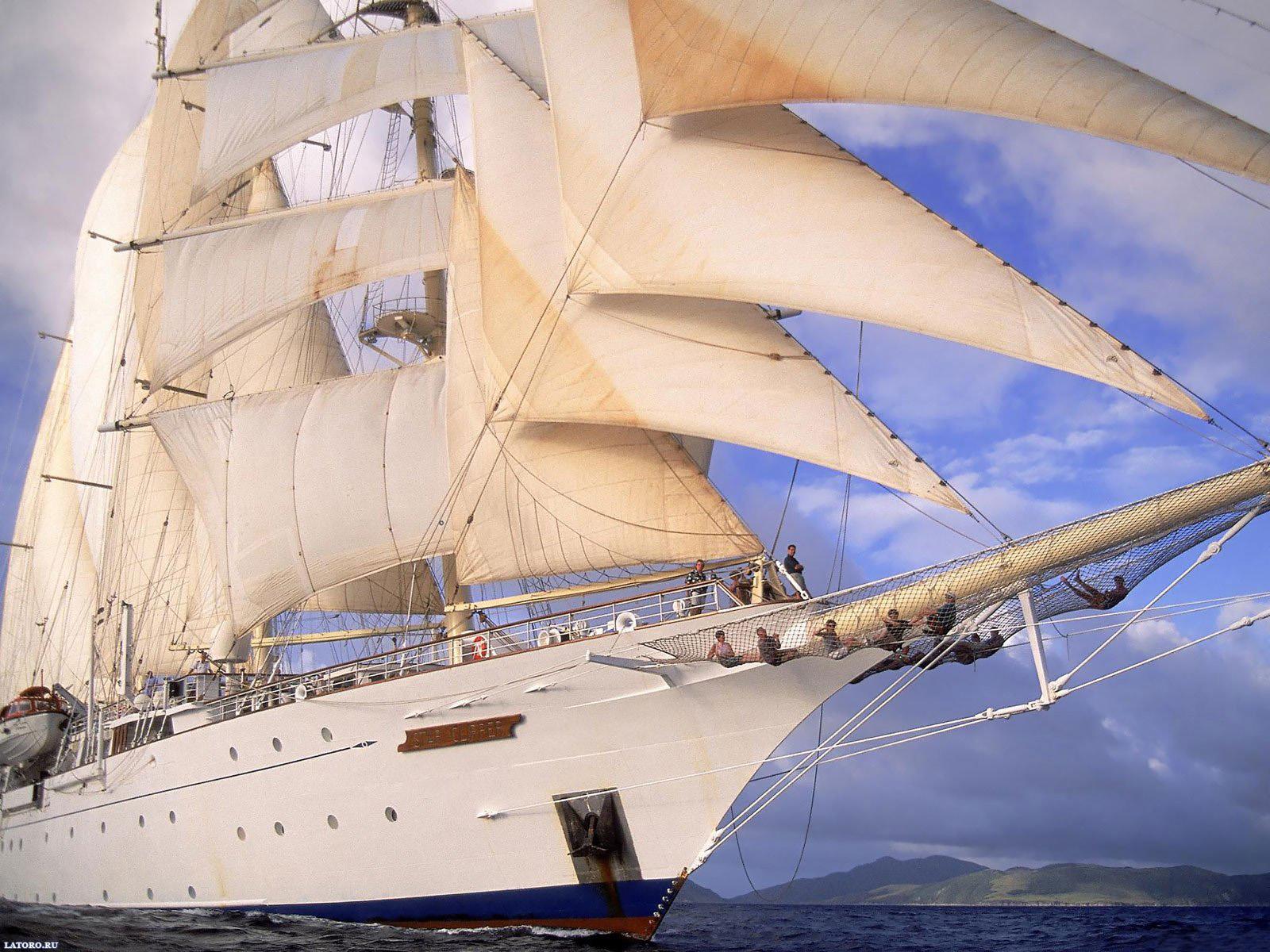 Парусный корабль, фрегат, бриг, корабли, обои