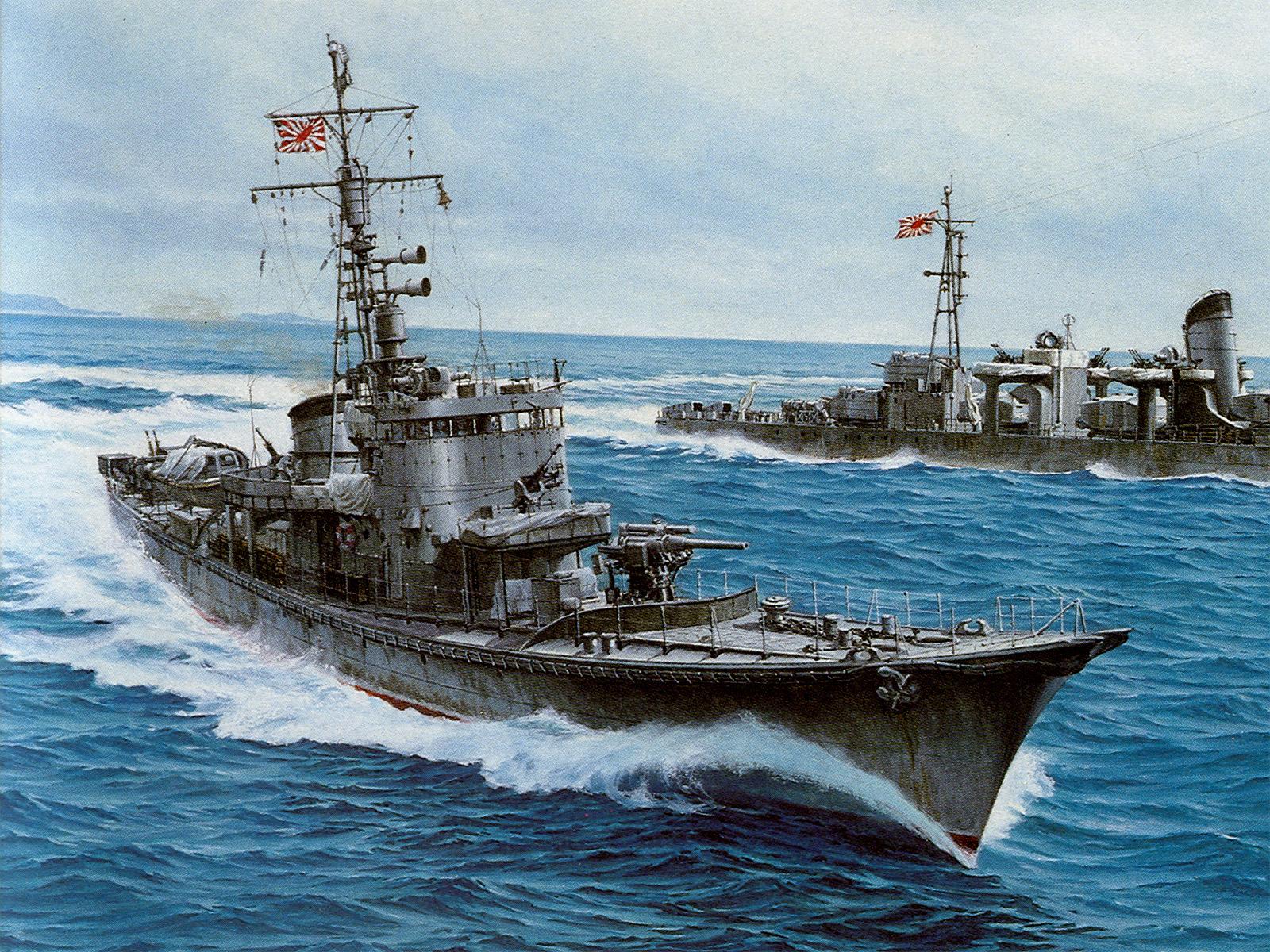 Боевой корабль, эсминец, море, обои на рабочий стол