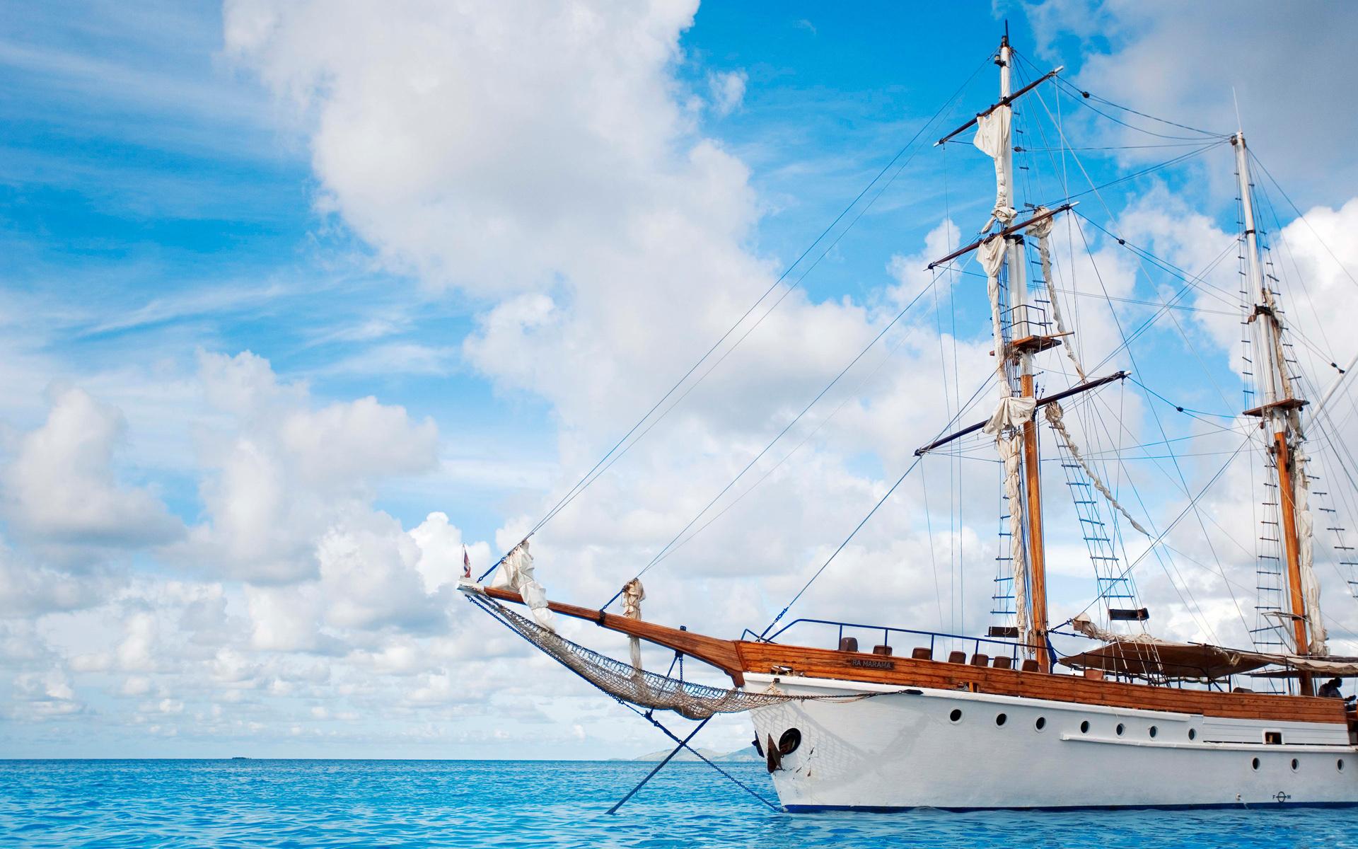 Парусный фрегат, море, корабль