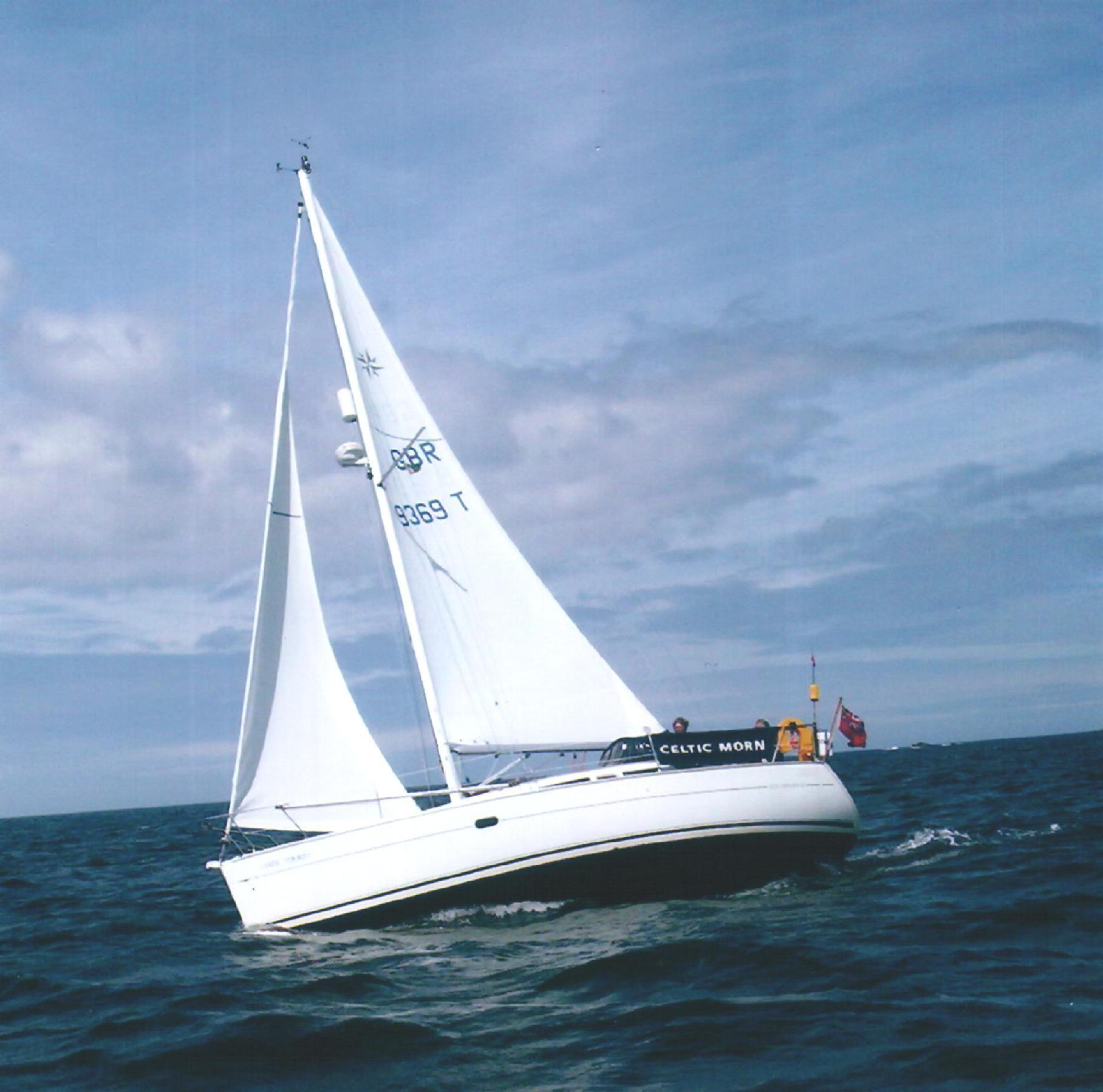 парусная лодка, корабль, море, фото обои