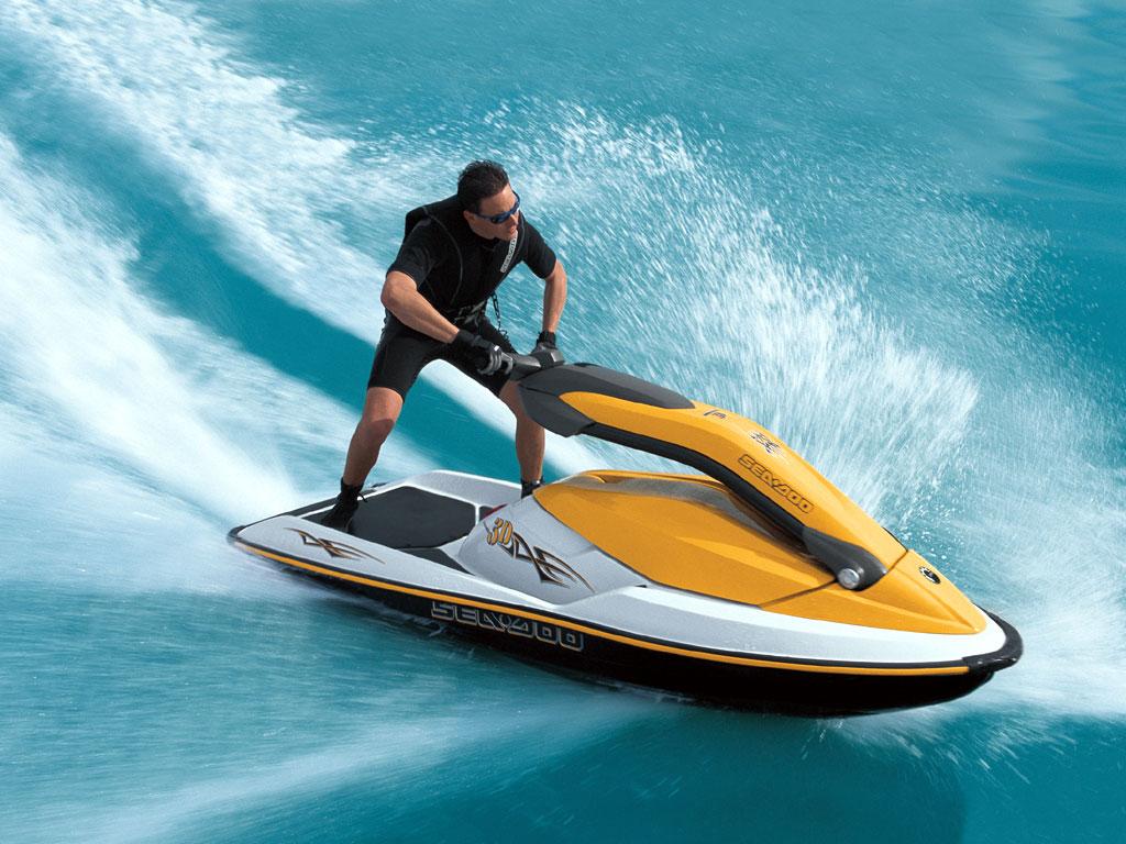 Обои для рабочего стола, водный скутер, мотоцикл, море, волна