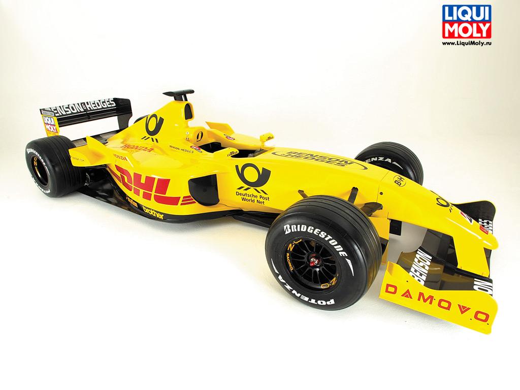 Желтая машина, обои на рабочий стол, формула 1, formula one