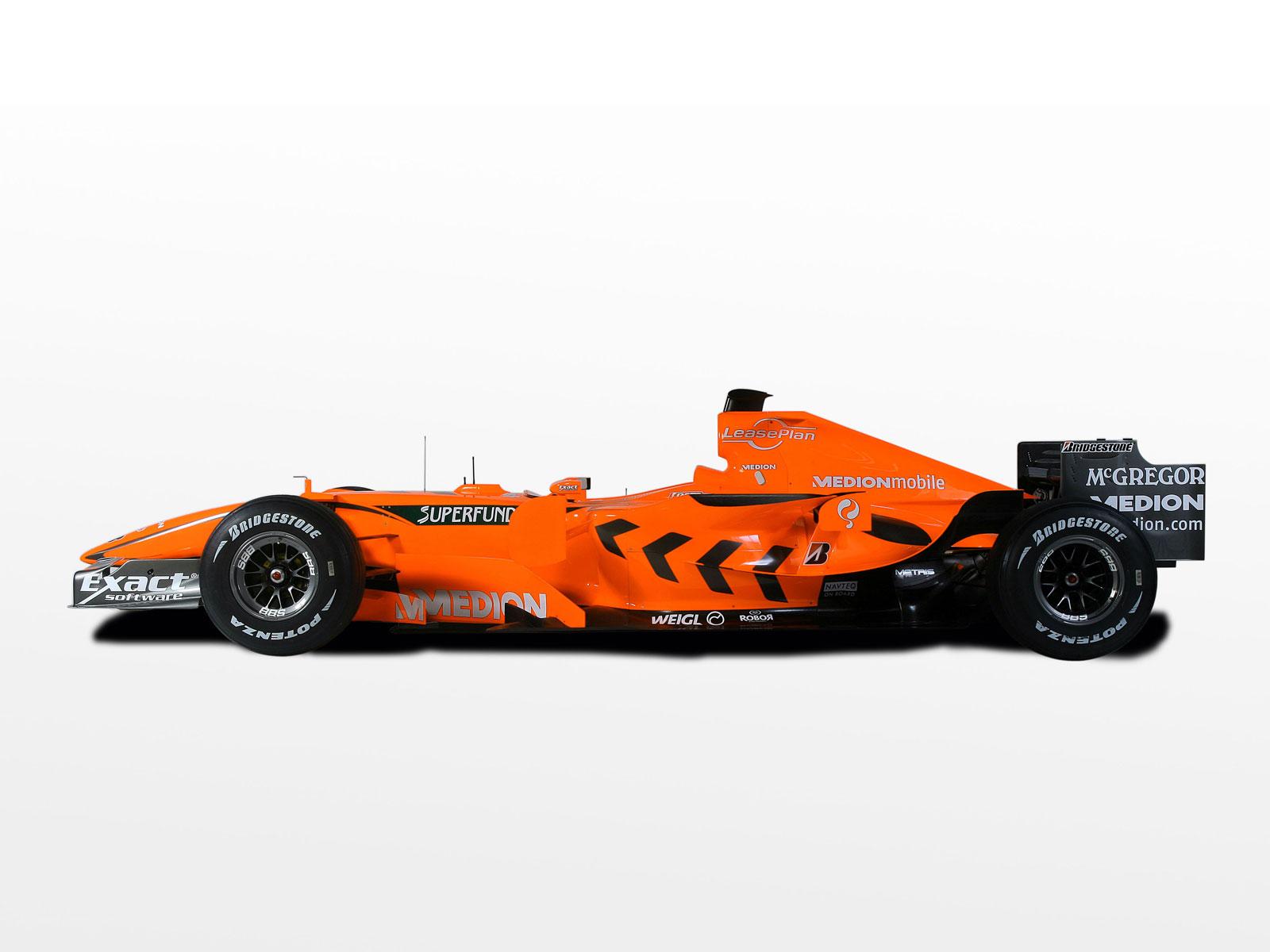 Оранжевый болид, формула 1, фото, обои для рабочего стола