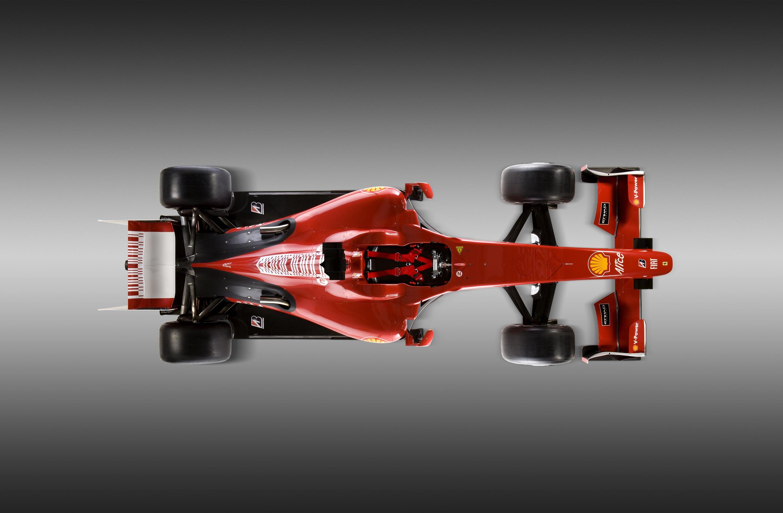 Красная машина, болид формула-1, фото сверху, обои