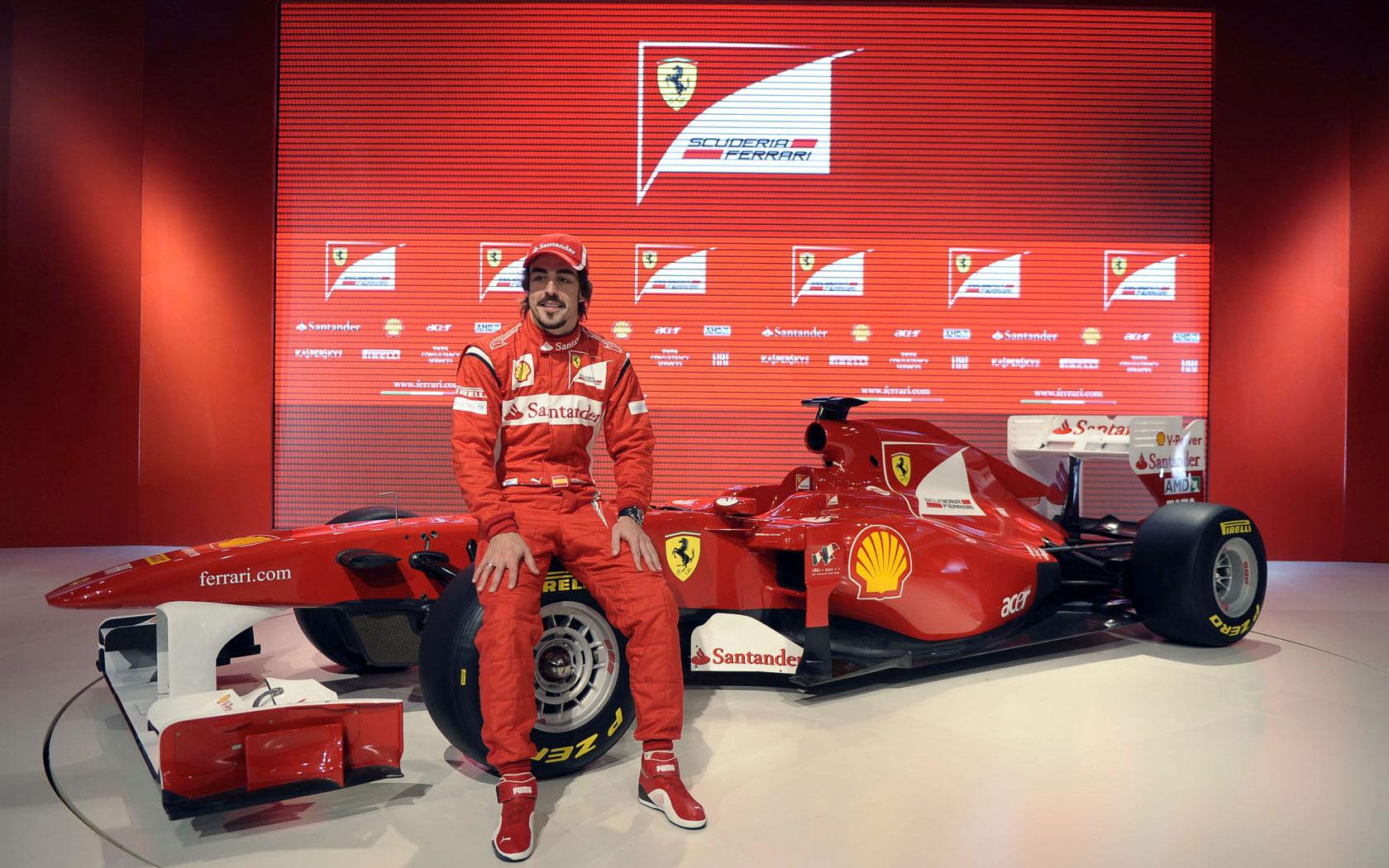 гонщик формулы-1, фото, обои, машина, красная для рабочего стола