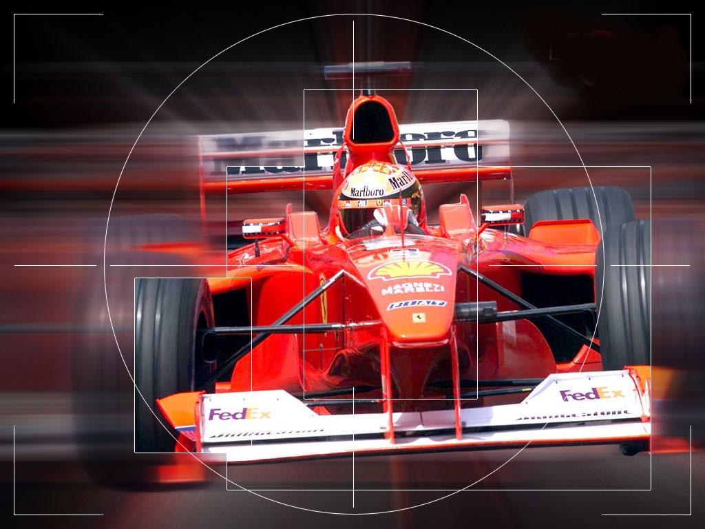 Формула-1, фото обои, машина, красная, для рабочего стола