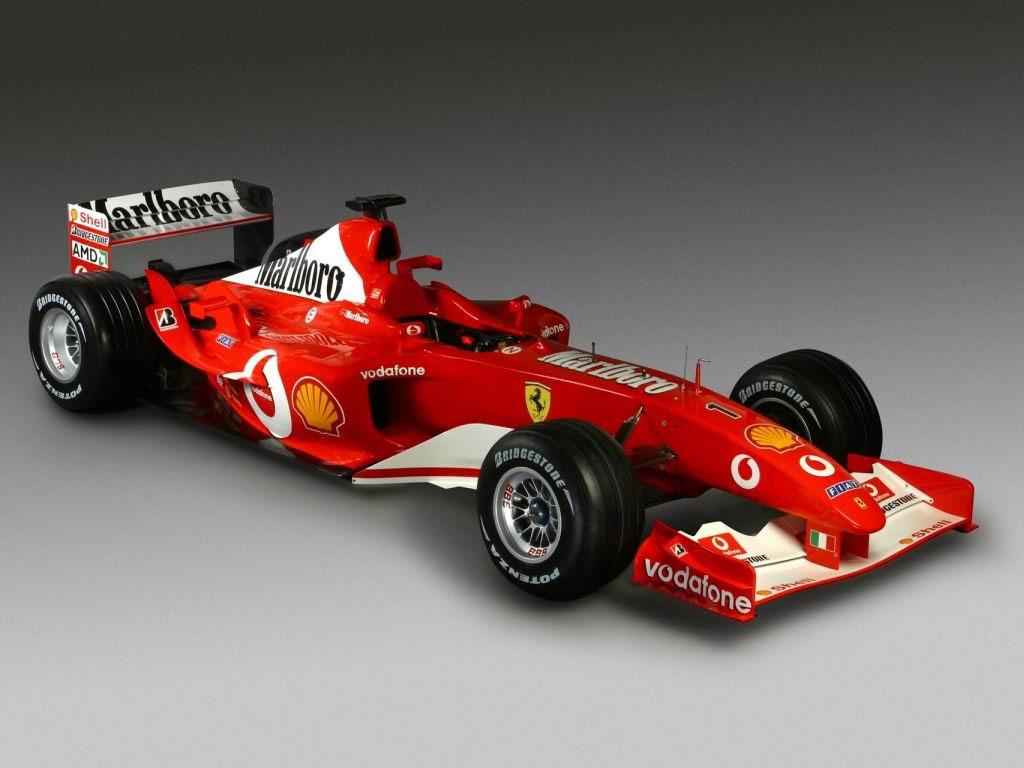 Красный болид формулы-1, фото, обои, гонки