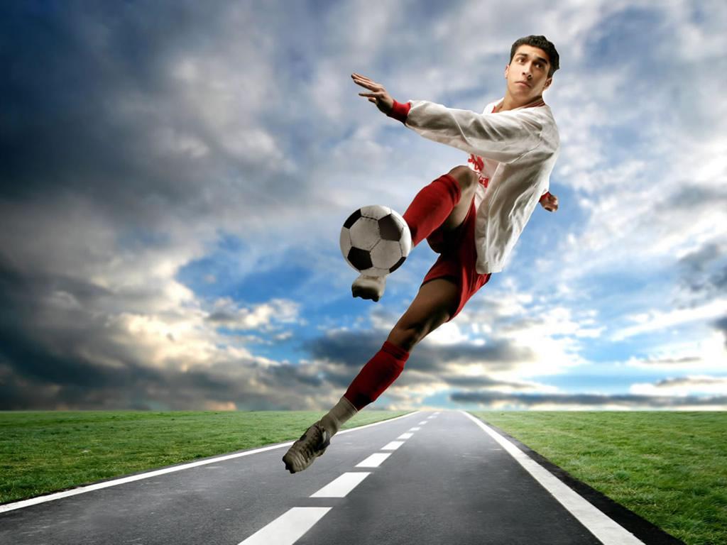 Футболист футбол обои для рабочего