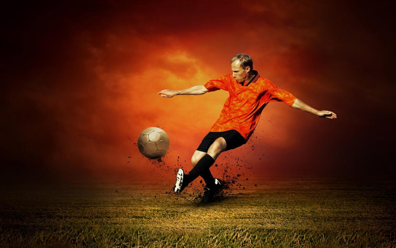 Футбол, фото, мяч, стадион, траву, обои для рабочего стола