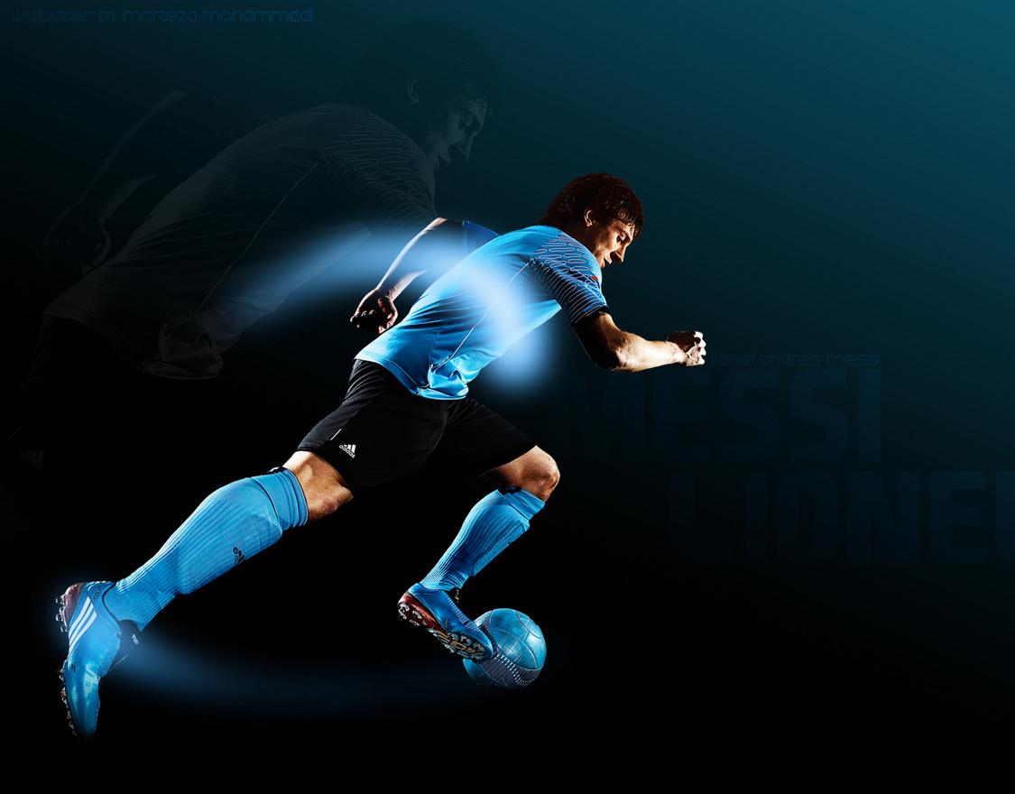 футболист с мячом бежит, фото, обои, футбол