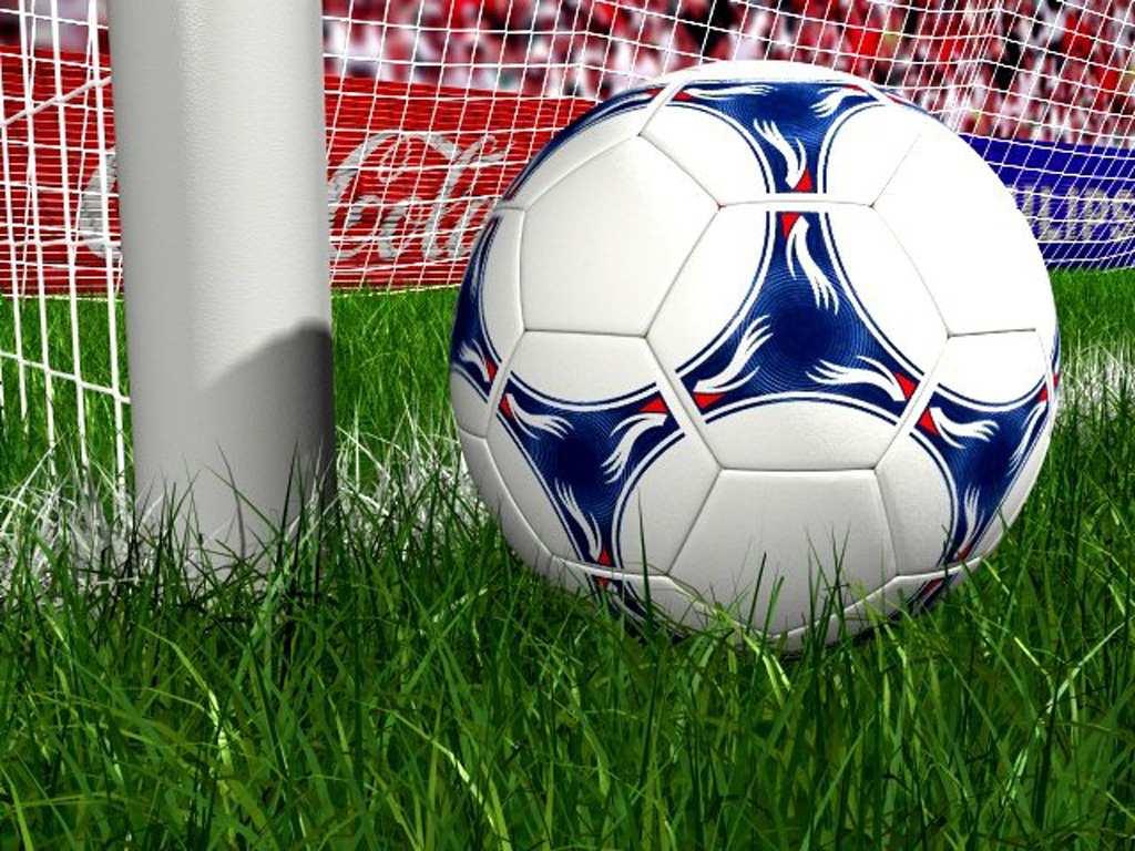 мяч и штанга, футбол, фото обои для рабочего стола