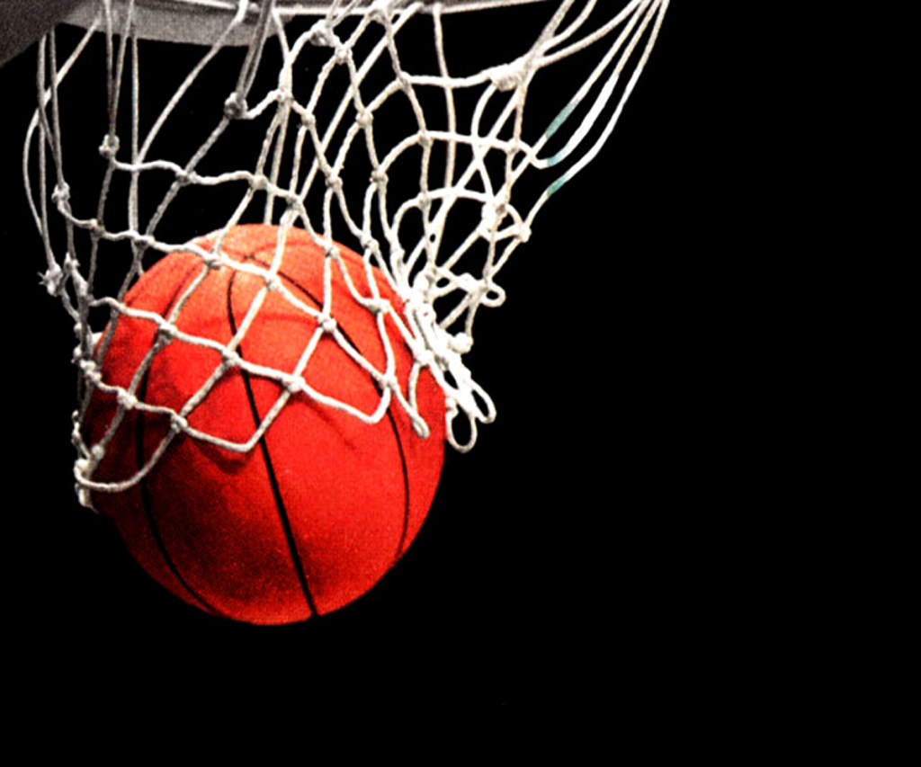 Баскетбол, корзина, сетка, мяч, обои на рабочий стол