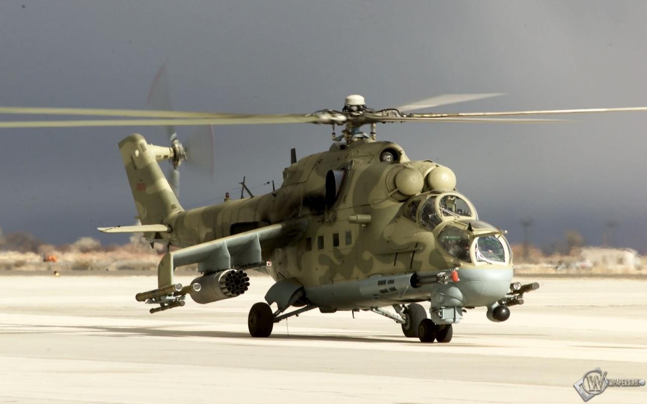 вертолет Ми-24, фото, обои для рабочего стола