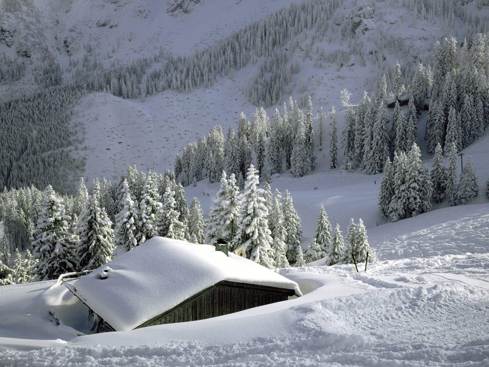 Зима, снег, сугробы, фото, обои для рабочего стола, скачать