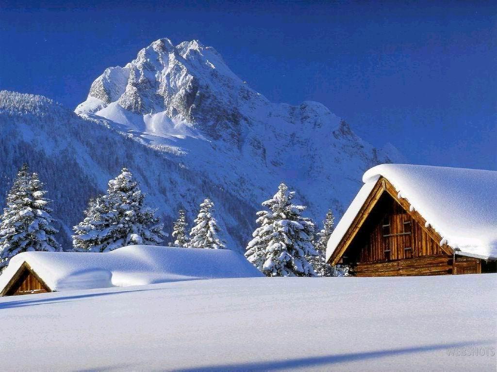 Зима, красивые обои на рабочий стол, снег, сугробы, скачать