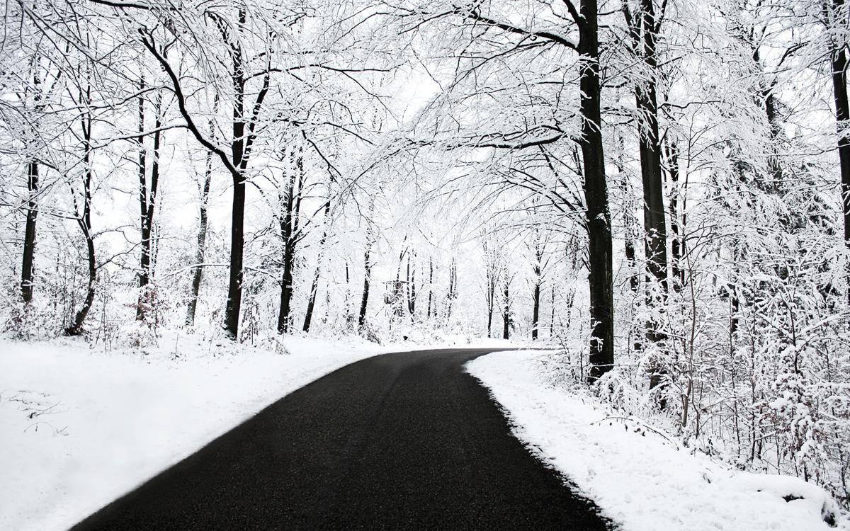 дорога, зима, снег, фото, скачать