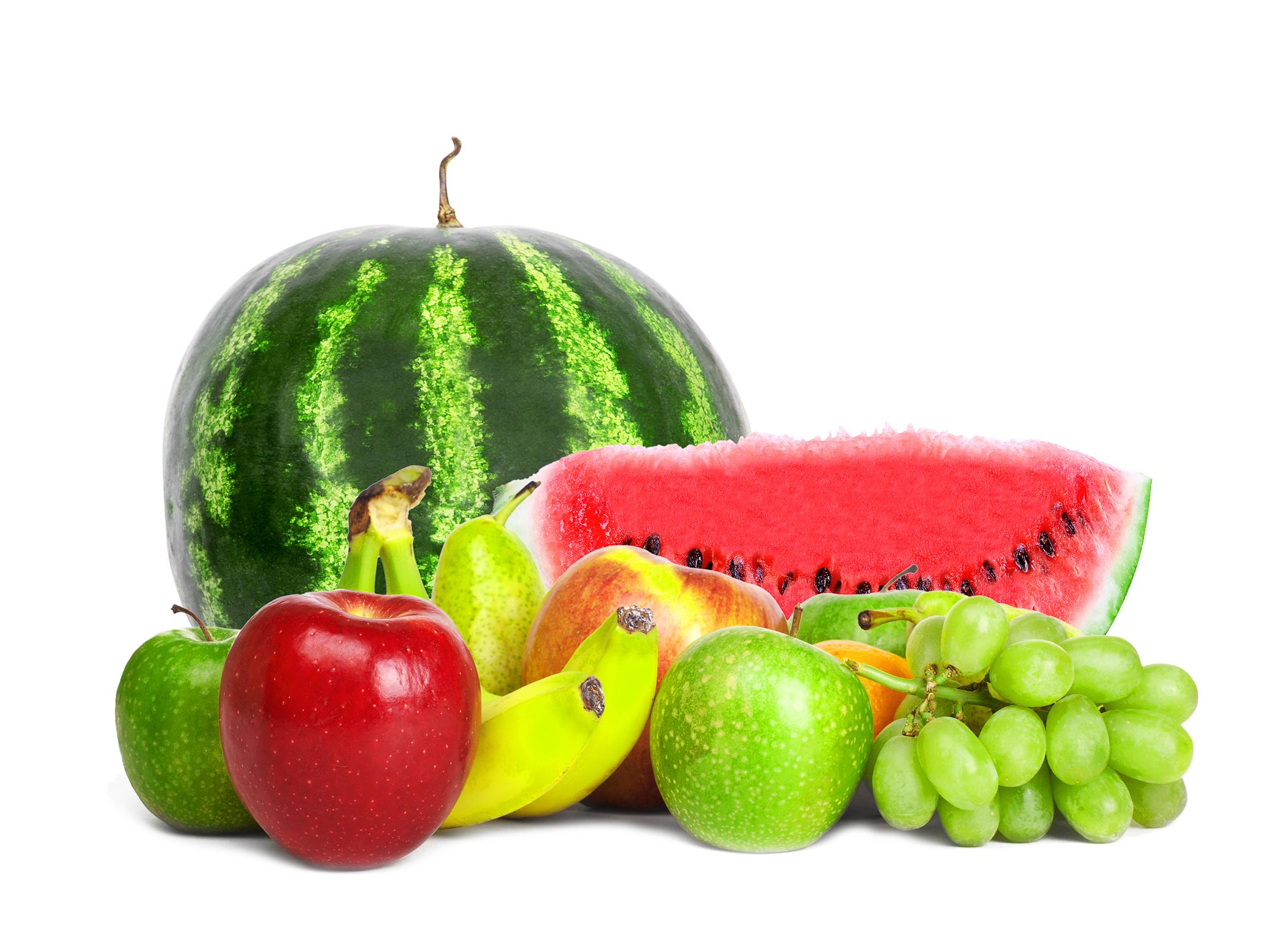 Арбуз и другие фрукты, фото, обои для рабочего стола, яблоки