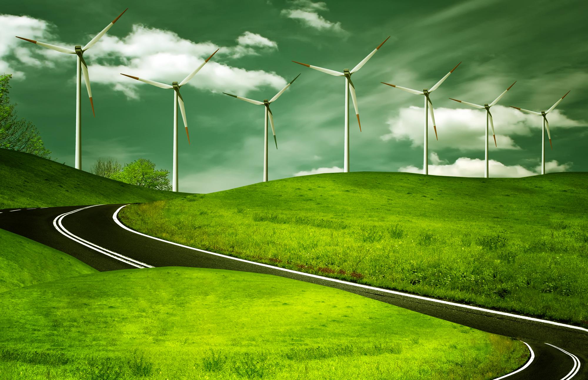 Дорога, зеленая трава, шоссе, фото, обои