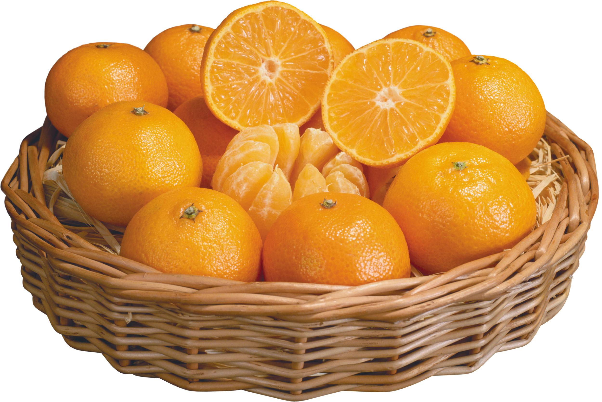 корзина фруктов, апельсины, фото, скачать