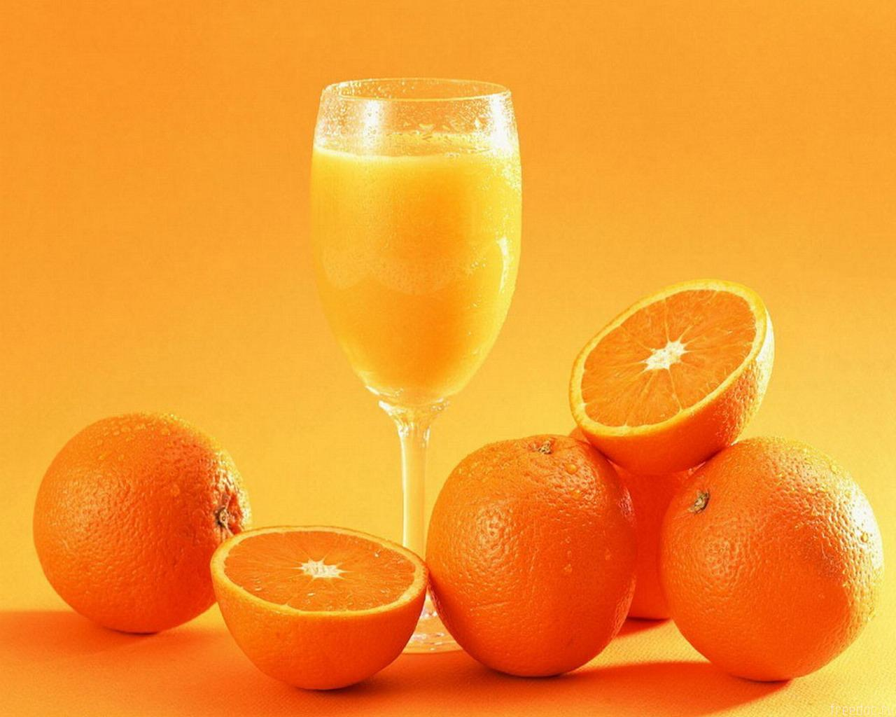 апельсиновый сок и апельсины, фото, обои на рабочий стол