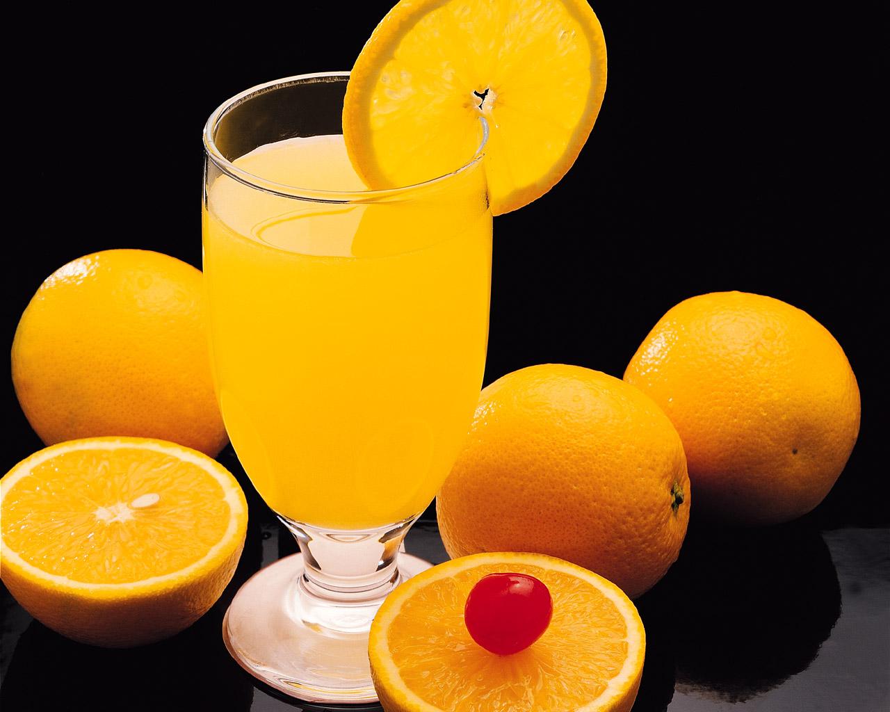 апельсины и апельсиновый сок, фото, обои для рабочего стола