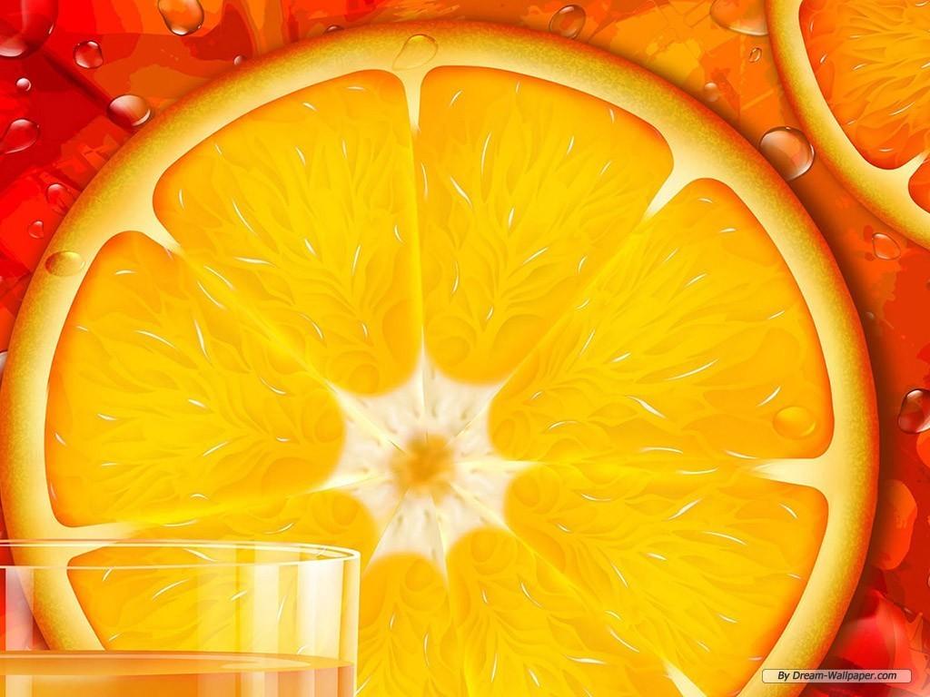 Обои на рабочий стол, апельсины, дольки