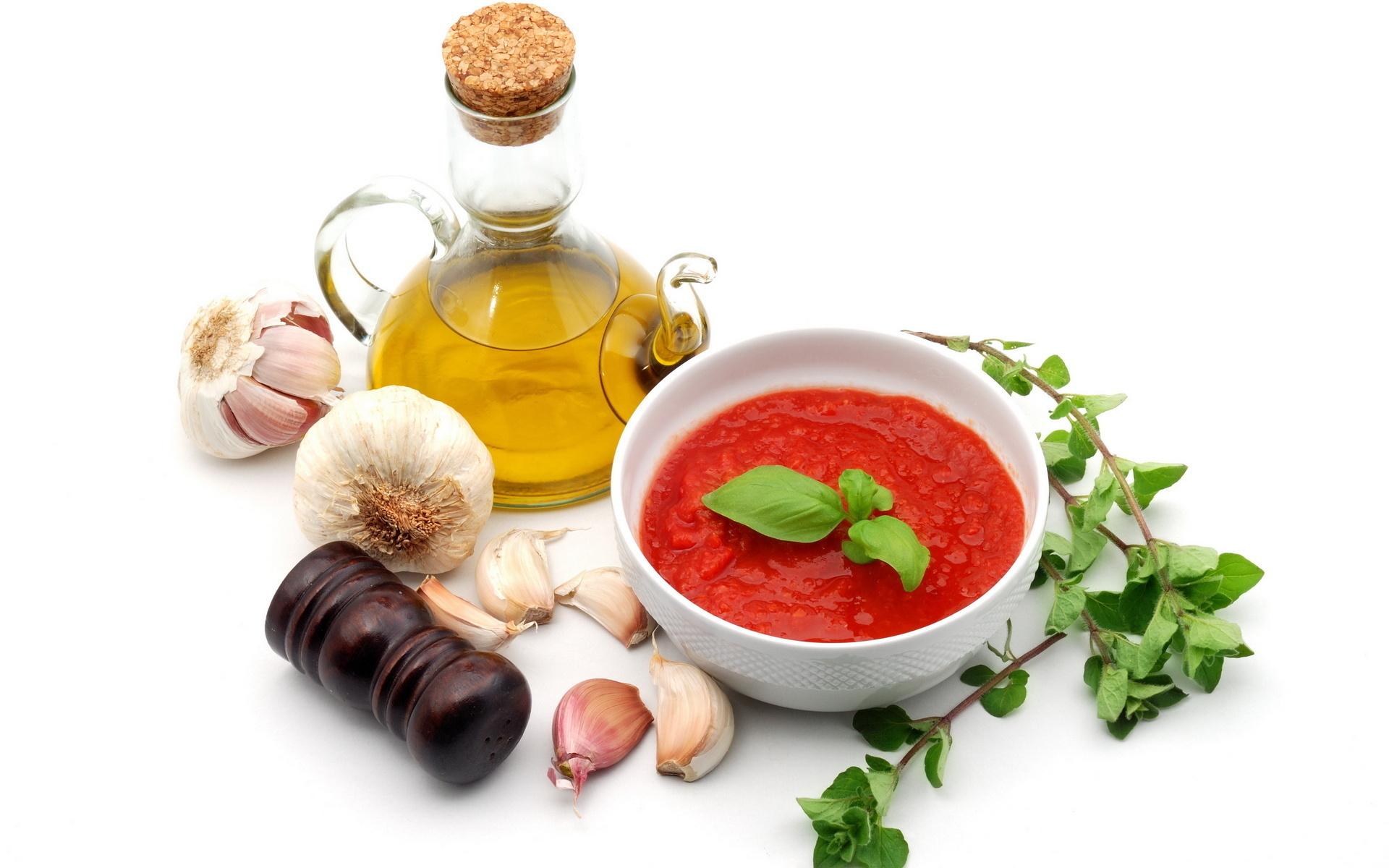 томатный суп, гаспаччо, фото, специи, обои для рабочего стола